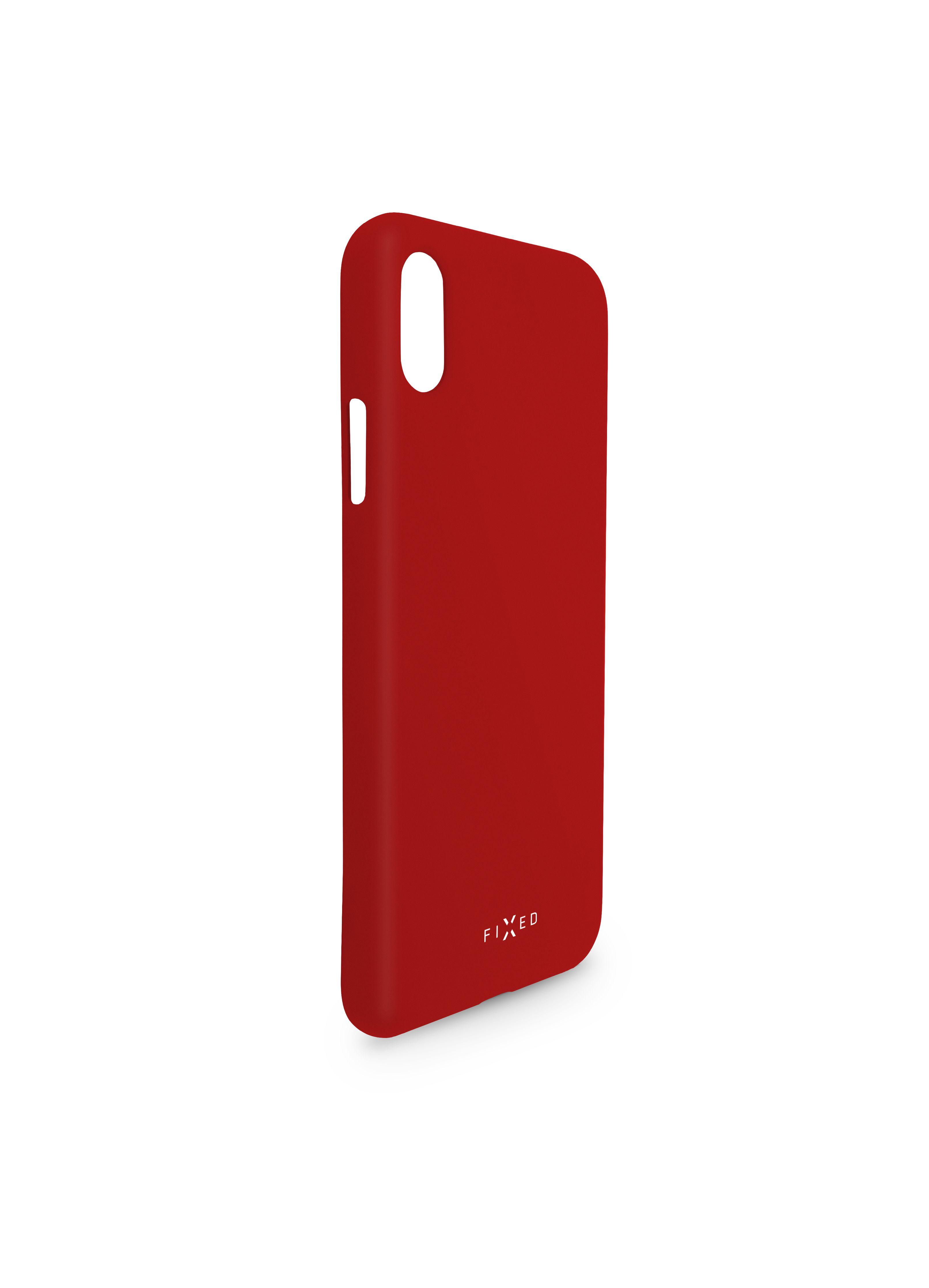 Zadní pogumovaný kryt FIXED Story pro Huawei P30, červený