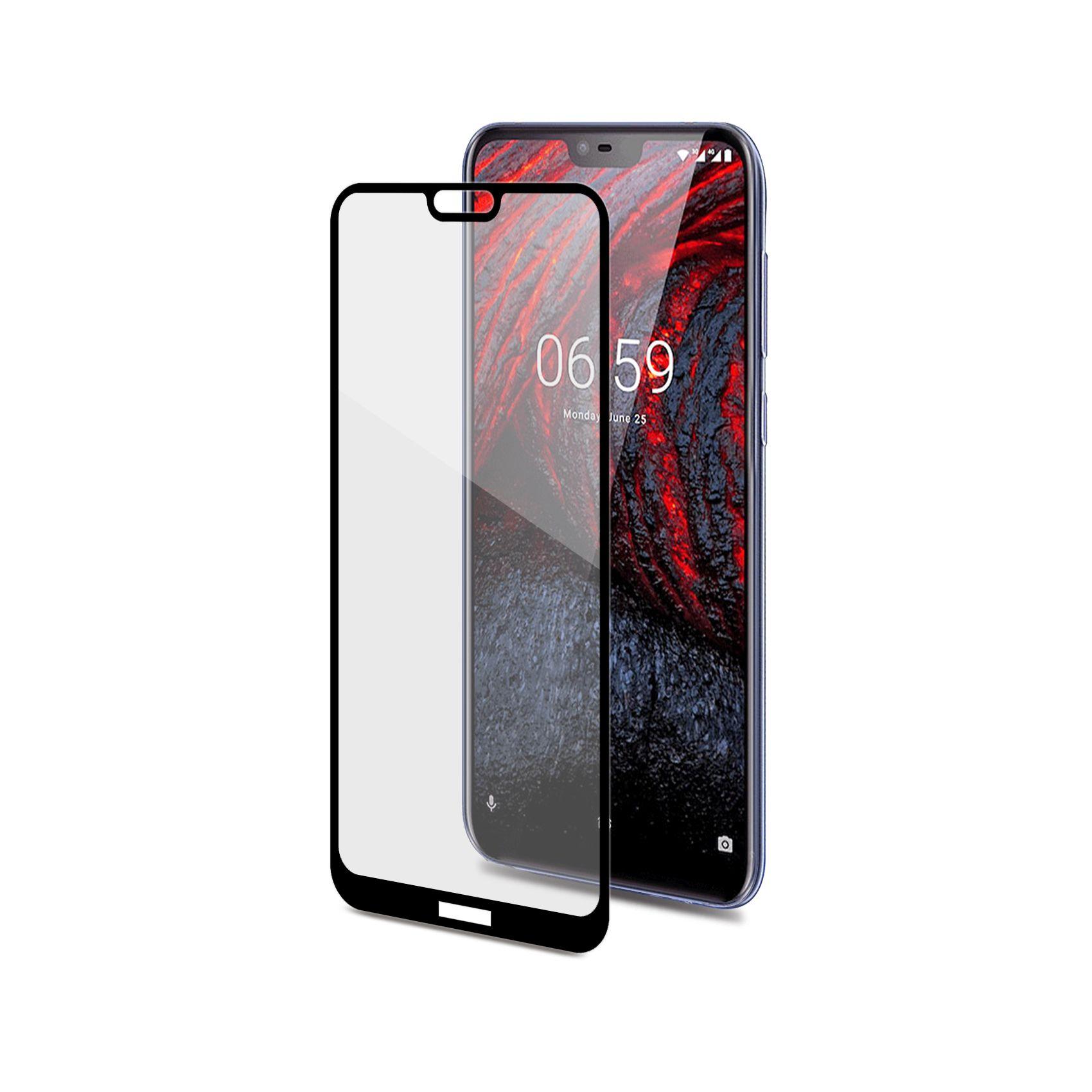 Ochranné tvrzené sklo CELLY Full Glass pro Nokia 6.1 Plus, černé