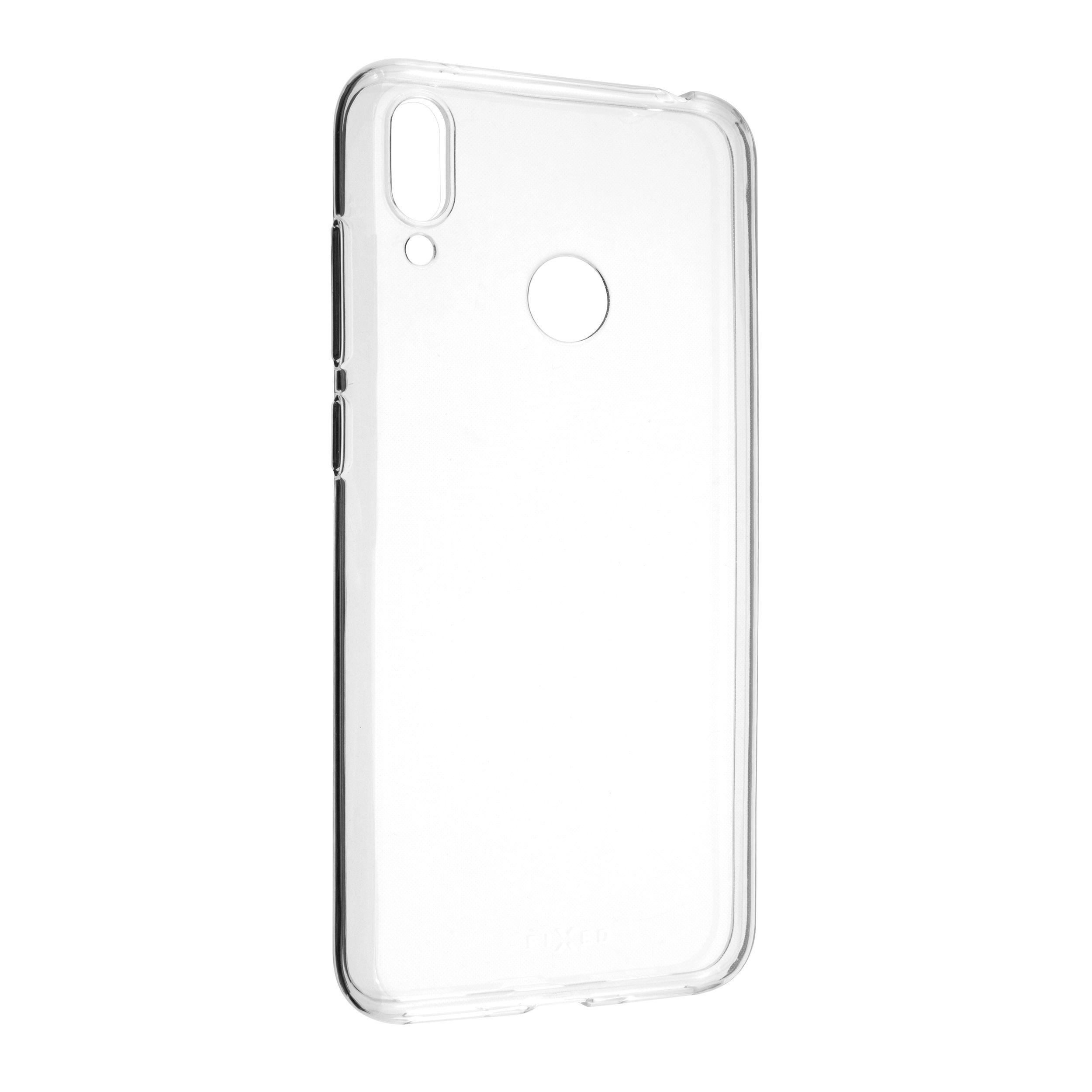 Ultratenké TPU gelové pouzdro FIXED Skin pro Huawei Y7 (2019), 0,6 mm, čiré