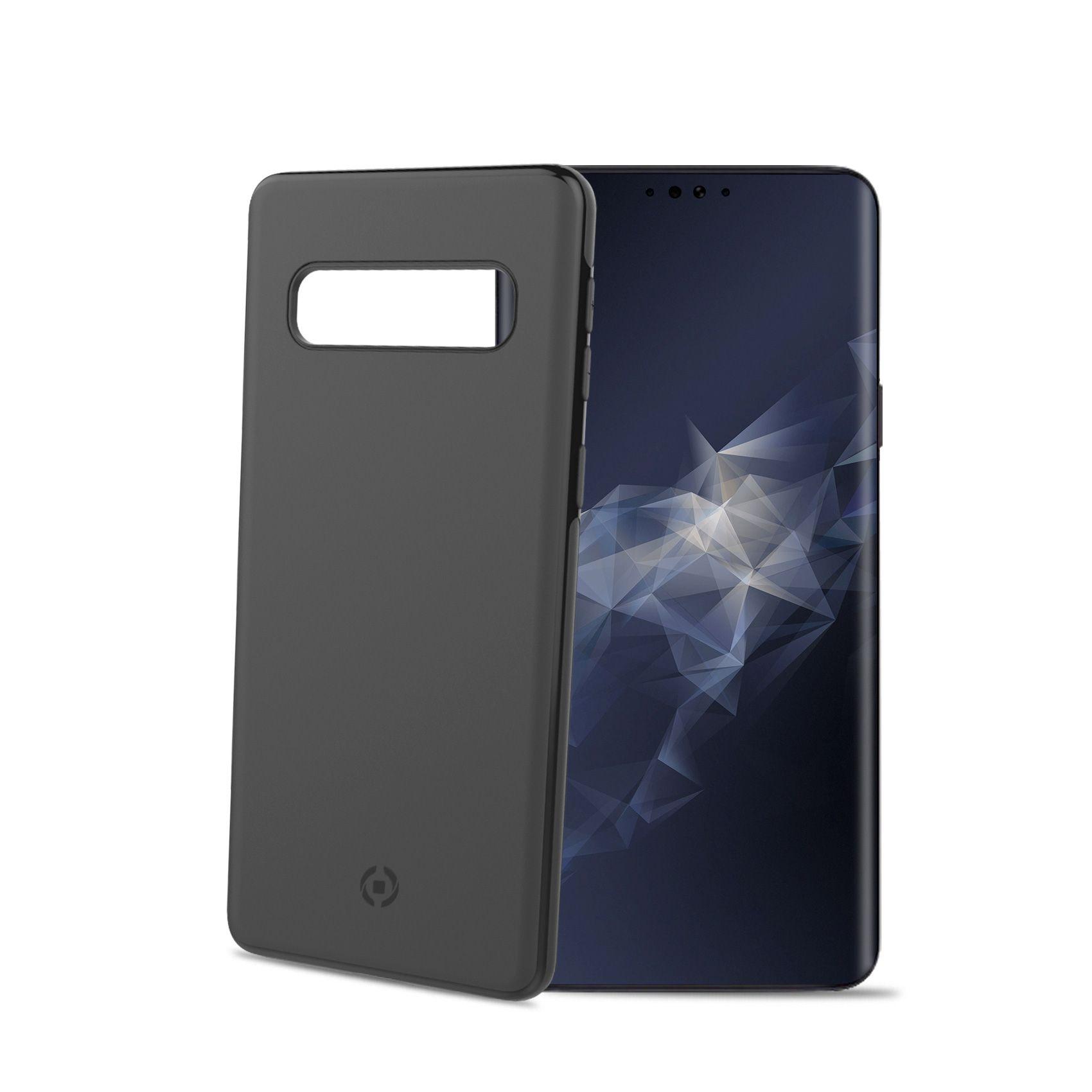 Zadní magnetický TPU kryt CELLY GHOSTSKIN pro Samsung Galaxy S10, kompatibilní s GHOST držáky, černý