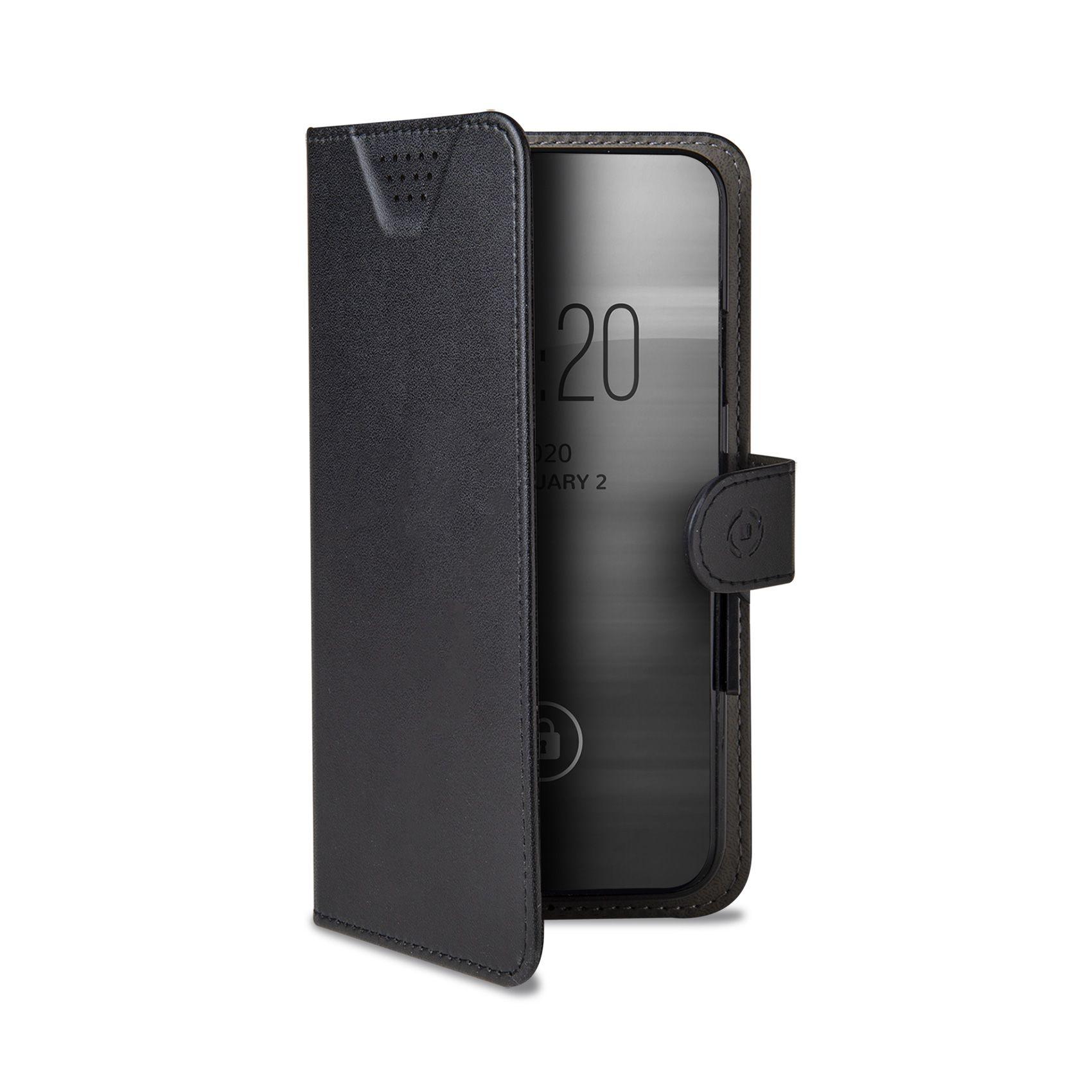 """Univerzální pouzdro typu kniha CELLY Wally One, velikost XL pro 4.5"""" - 5.0"""", černé"""