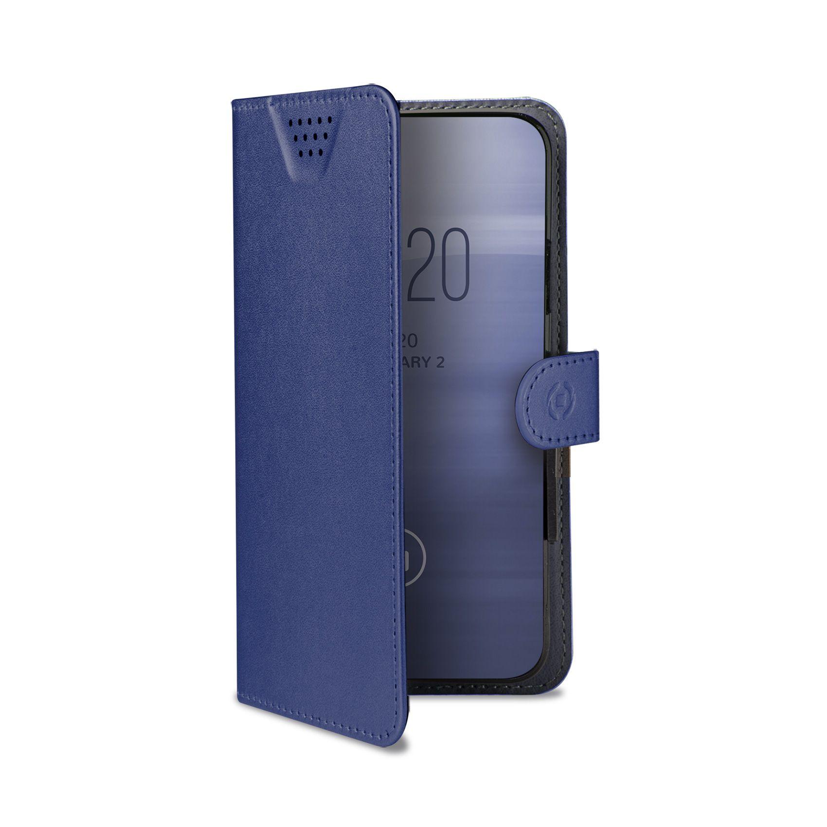 """Univerzální pouzdro typu kniha CELLY Wally One, velikost XL pro 4.5"""" - 5.0"""", modré"""