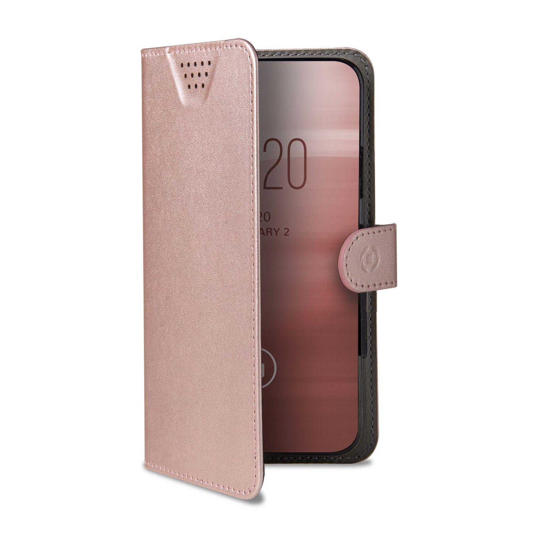 """Univerzální pouzdro typu kniha CELLY Wally One, velikost XXL pro 5.0"""" - 5.5"""", růžové"""