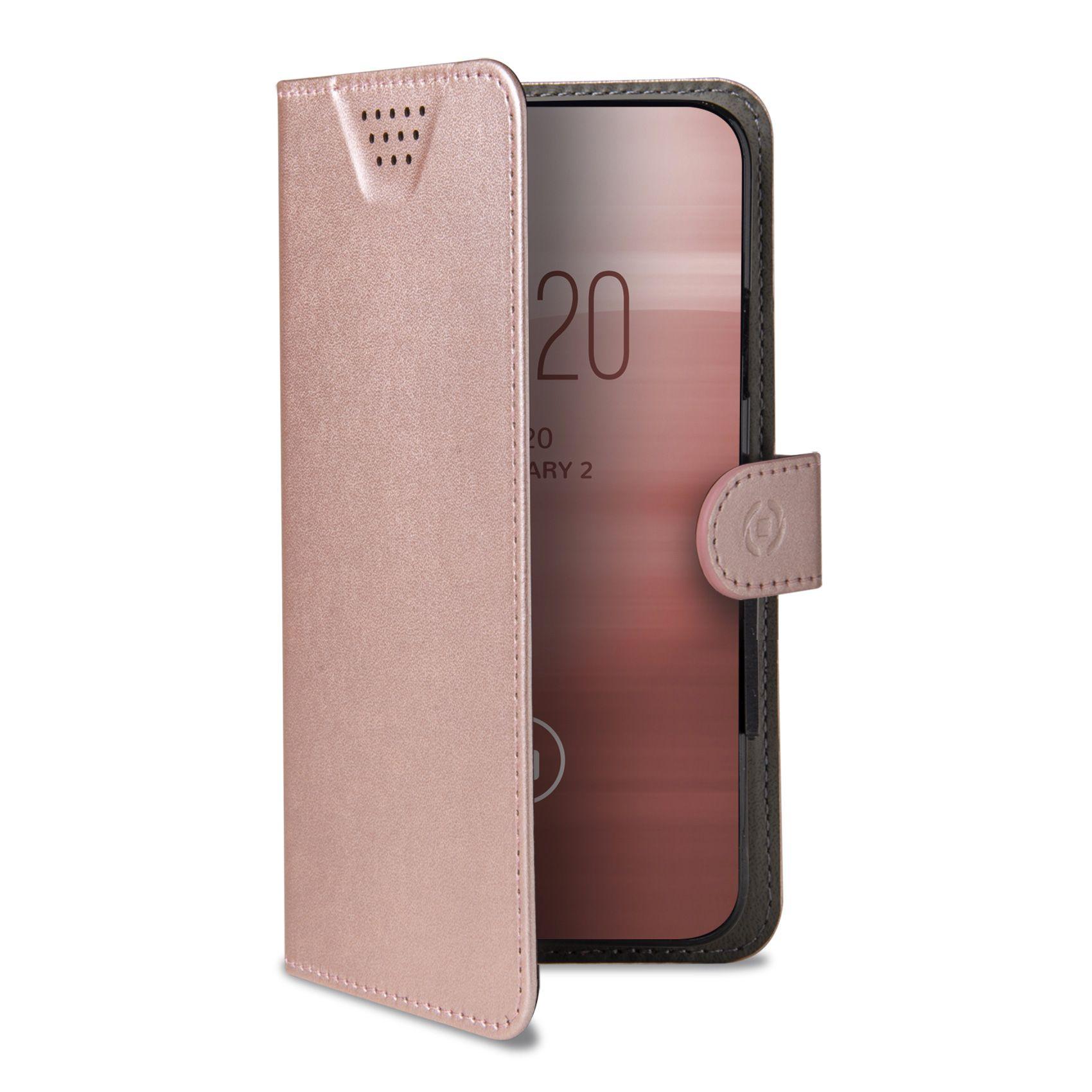 """Univerzální pouzdro typu kniha CELLY Wally One, velikost XXXL pro 5.5"""" - 6.0"""", růžové"""
