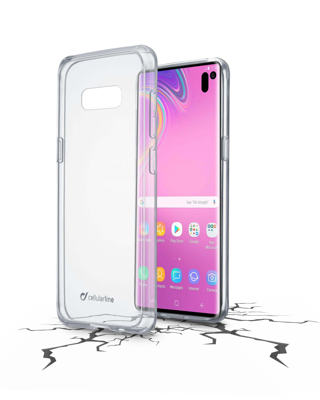 Zadní čirý kryt s ochranným rámečkem Cellularline CLEAR DUO pro Samsung Galaxy S10e