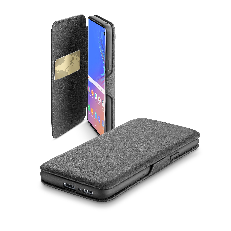 Pouzdro typu kniha CellularLine Book Clutch pro Samsung Galaxy S10, černé
