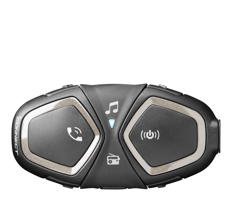 Bluetooth handsfree pro uzavřené a otevřené přilby CellularLine Interphone CONNECT, Single Pack