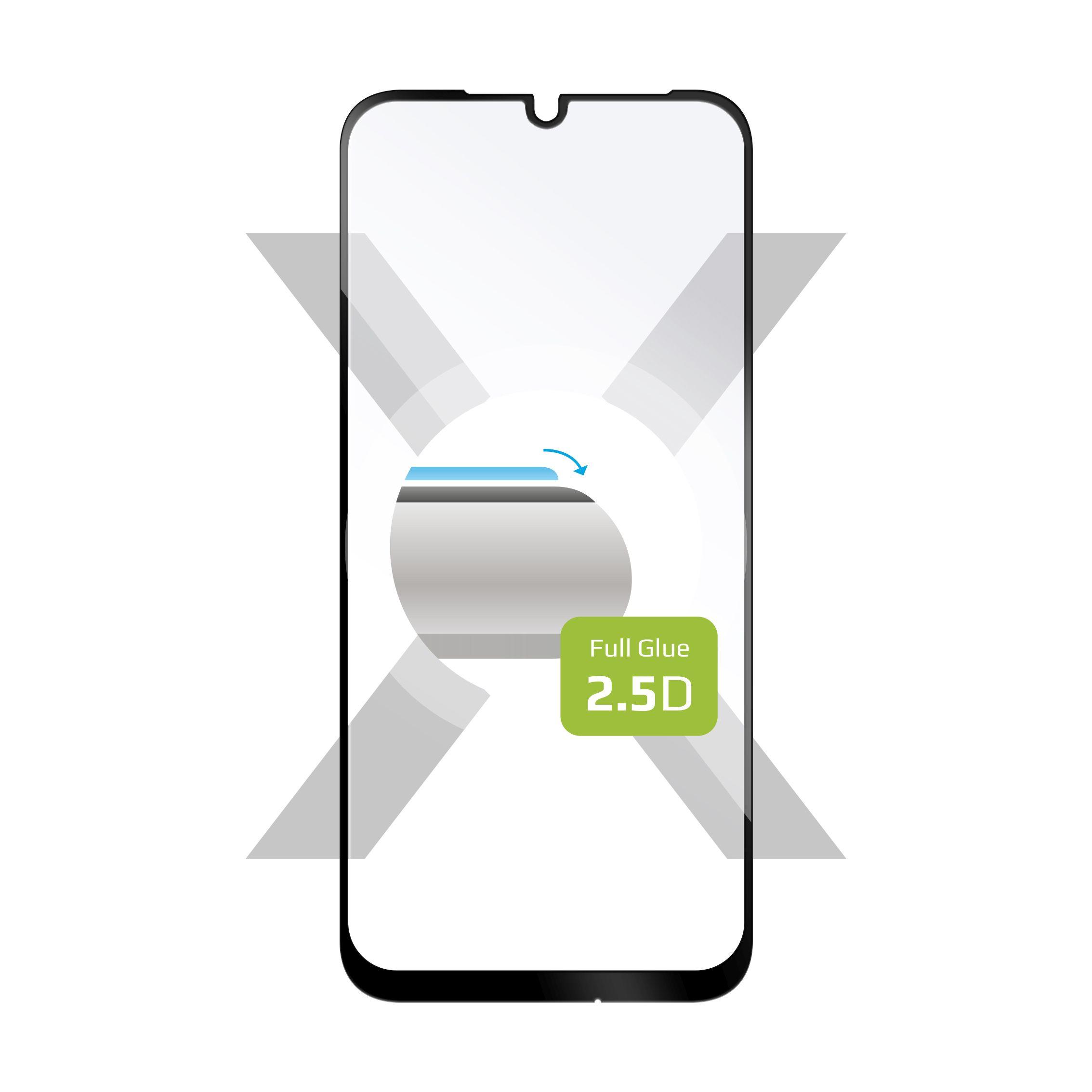 Ochranné tvrzené sklo FIXED Full-Cover pro Xiaomi Redmi Note 7/7 Pro, lepení přes celý displej, černé