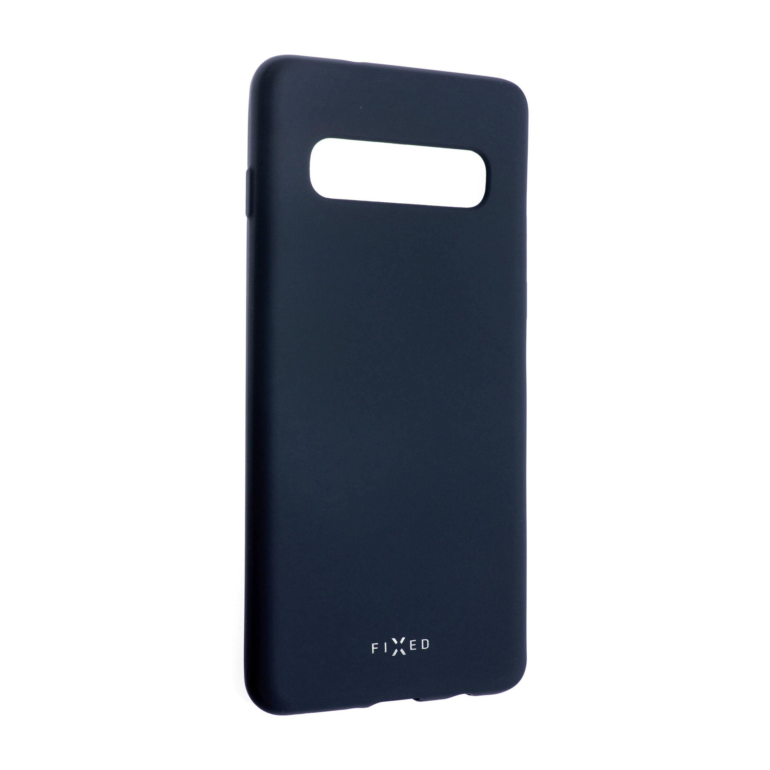 Zadní pogumovaný kryt FIXED Story pro Samsung Galaxy S10, modrý