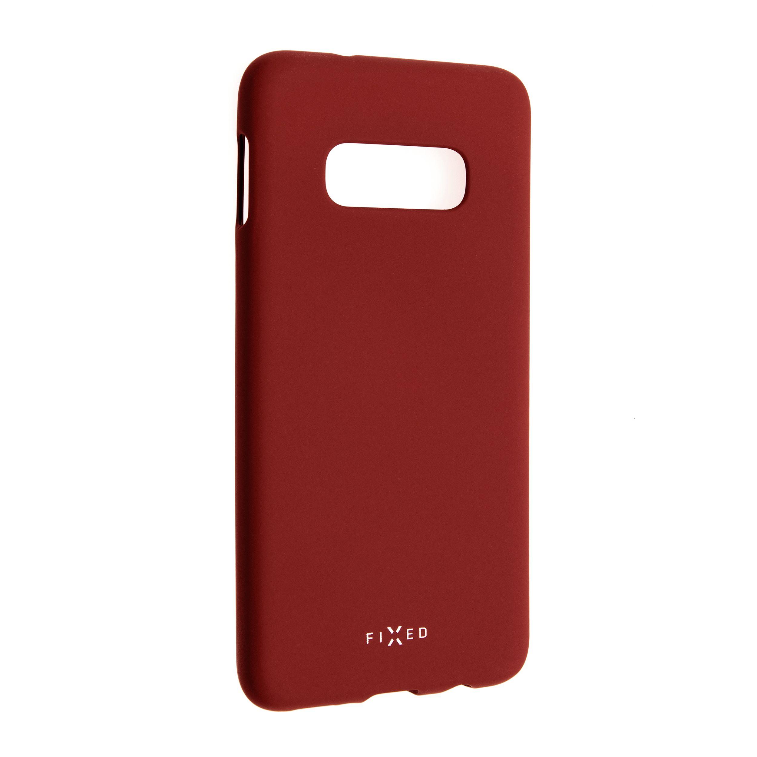 Zadní pogumovaný kryt FIXED Story pro Samsung Galaxy S10e, červený