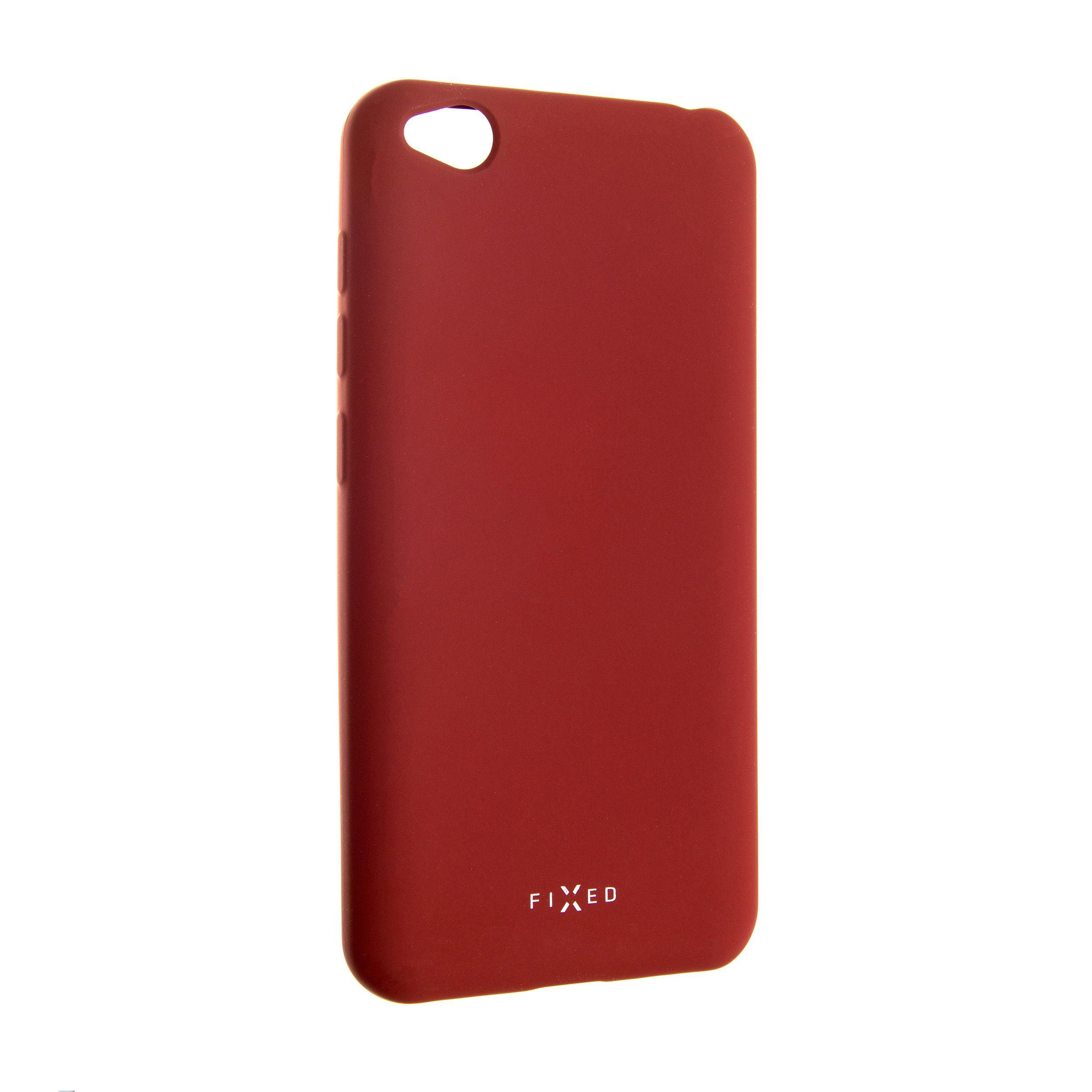 Zadní pogumovaný kryt FIXED Story pro Xiaomi Redmi Go, červený