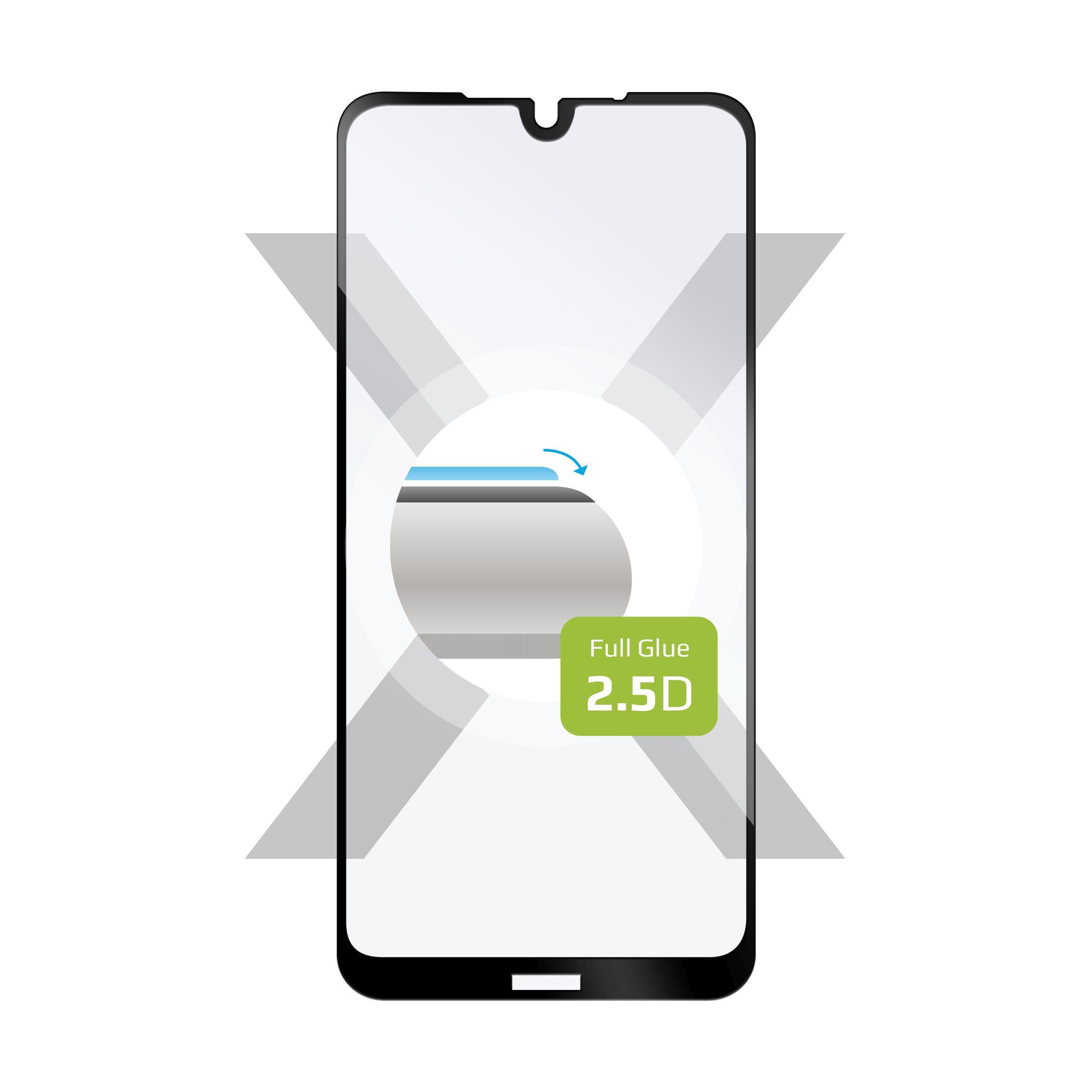 Ochranné tvrzené sklo FIXED Full-Cover pro Nokia 4.2, lepení přes celý displej, černé