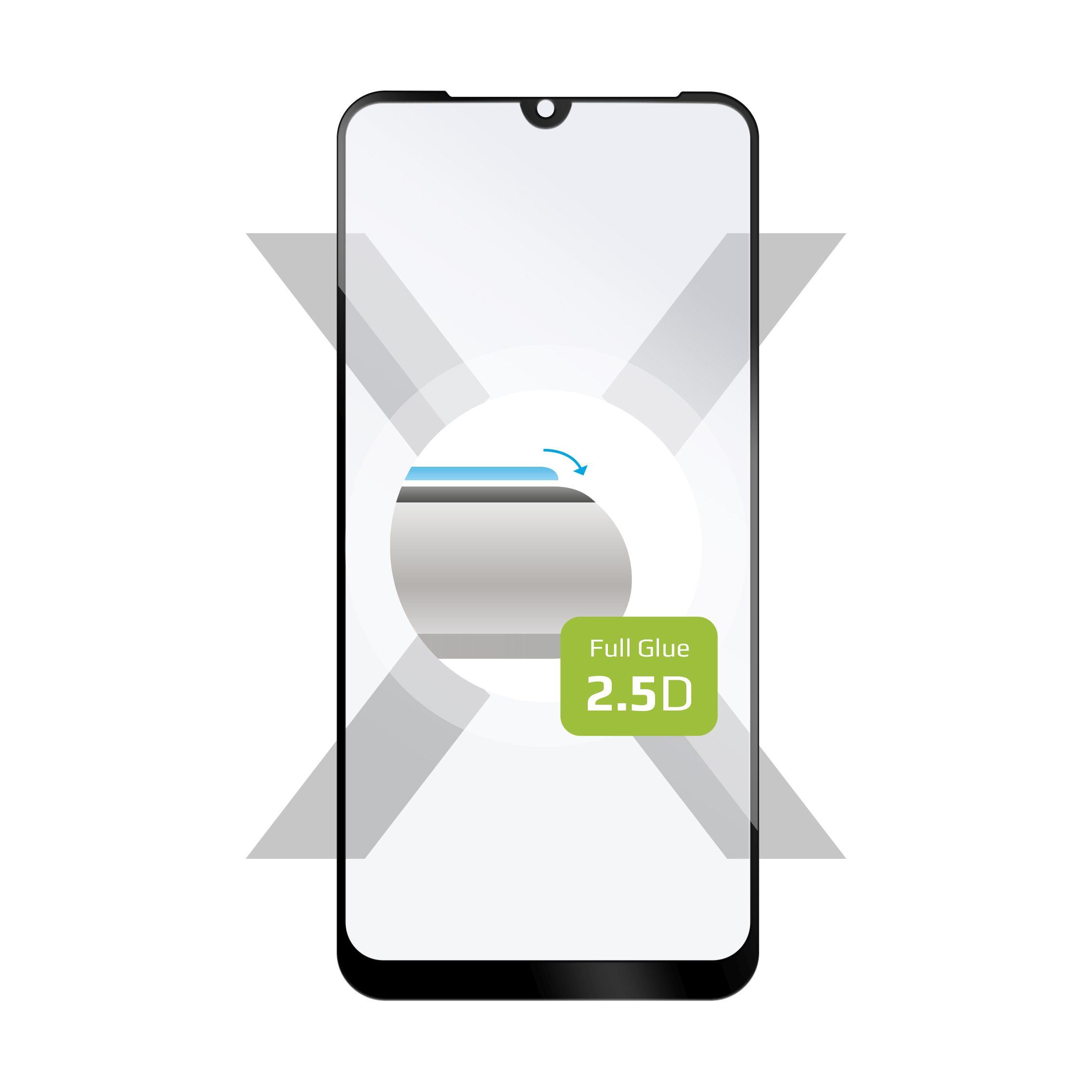 Ochranné tvrzené sklo FIXED Full-Cover pro Xiaomi Redmi 7, lepení přes celý displej, černé