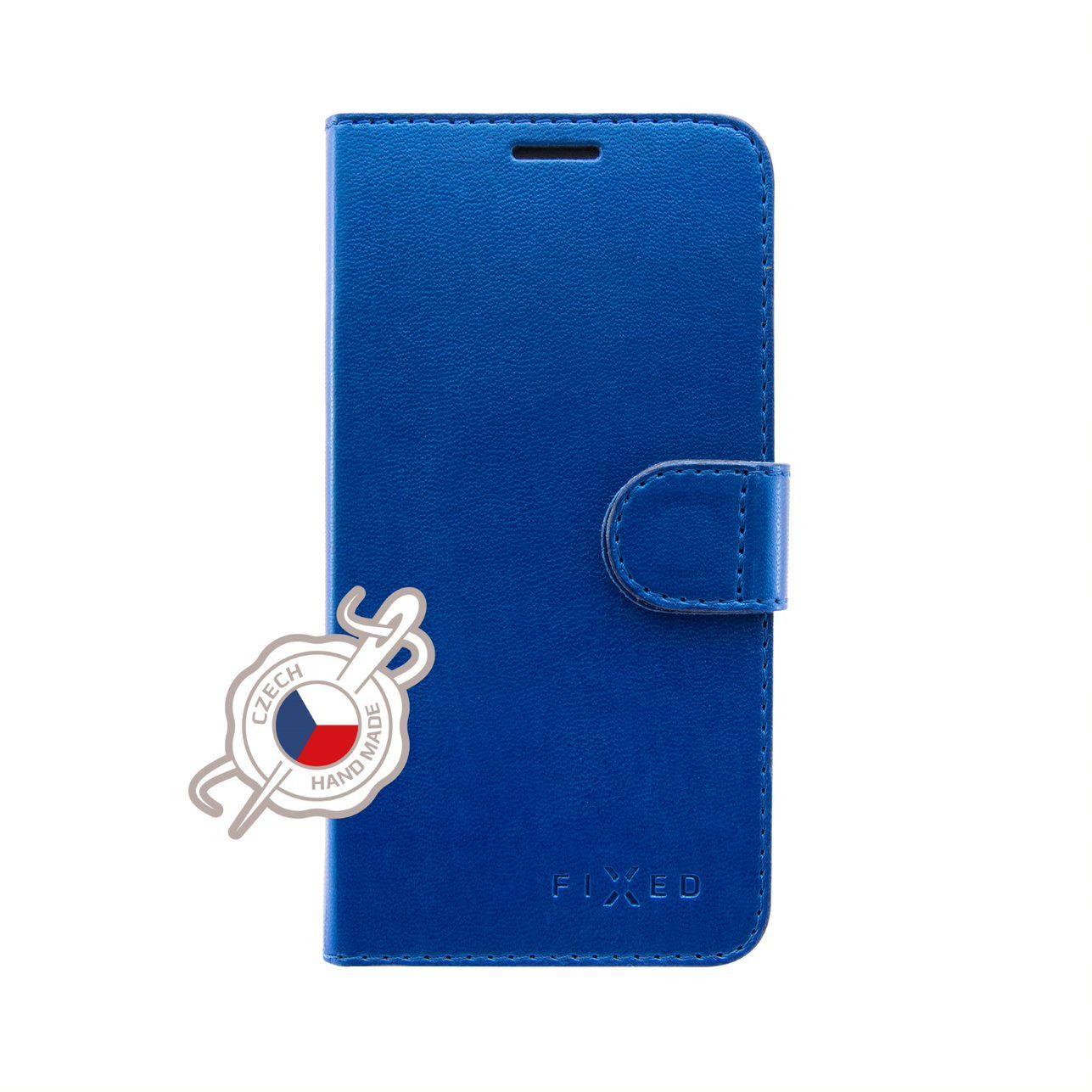 Pouzdro typu kniha FIXED FIT Shine pro Samsung Galaxy A70/A70s, modré