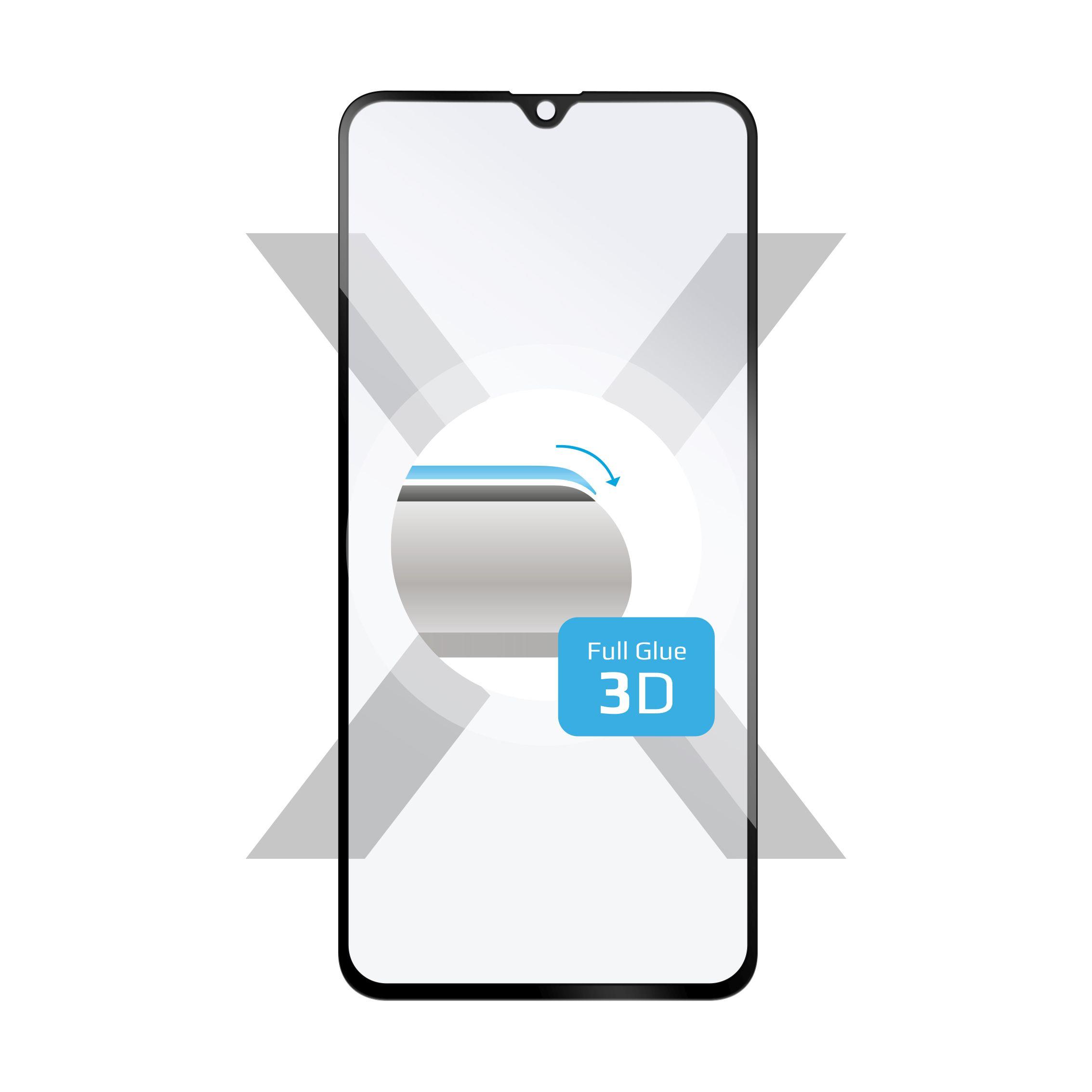 Ochranné tvrzené sklo FIXED 3D Full-Cover pro Samsung Galaxy A40, s lepením přes celý displej, černé
