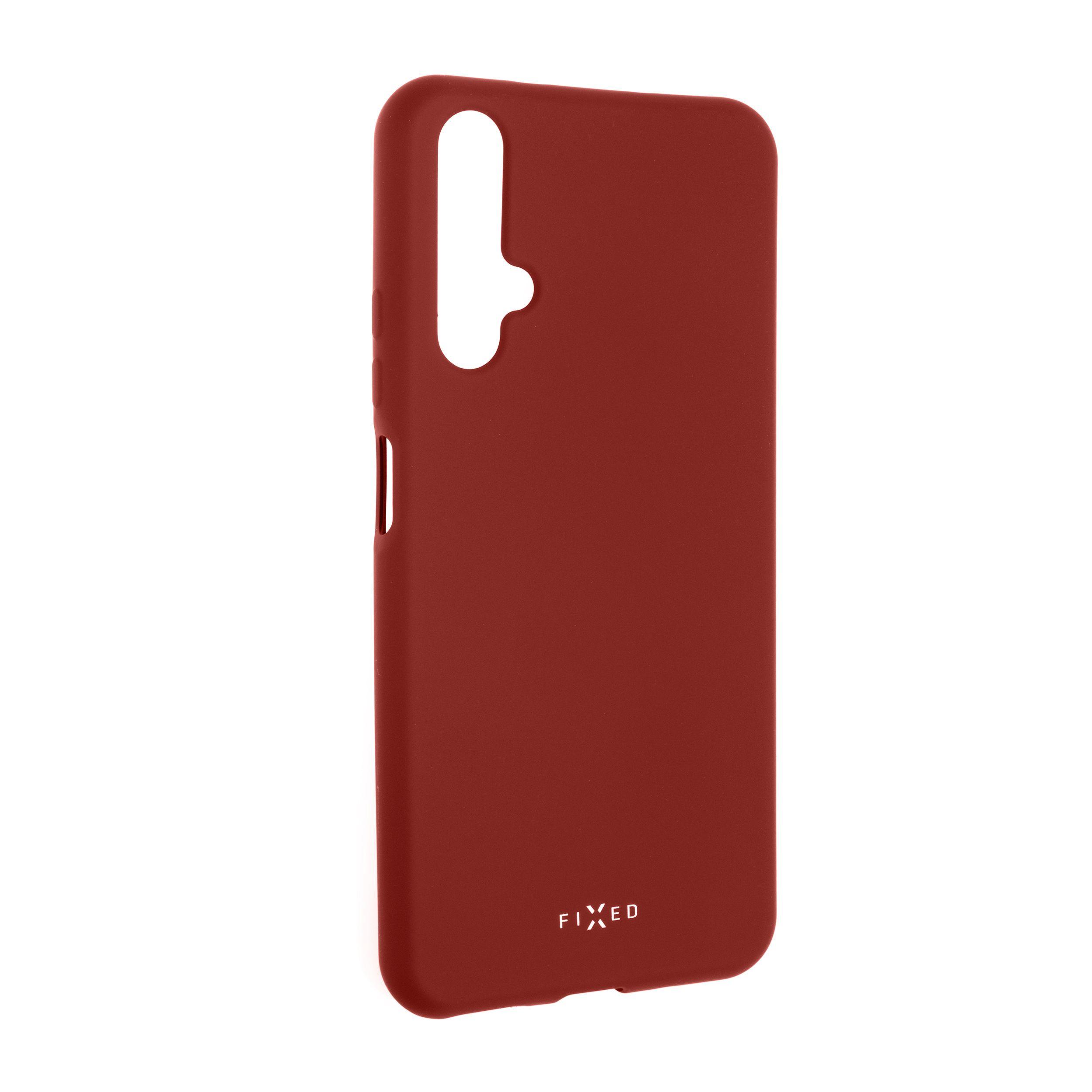 Zadní pogumovaný kryt FIXED Story pro Honor 20/Huawei nova 5T, červený