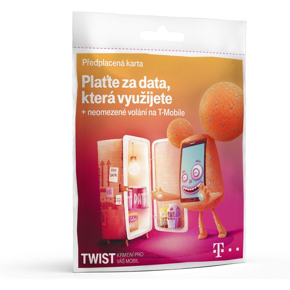 Předplacená SIM karta T-Mobile Twist s kreditem 200 Kč - Platite za data, ktera využijete