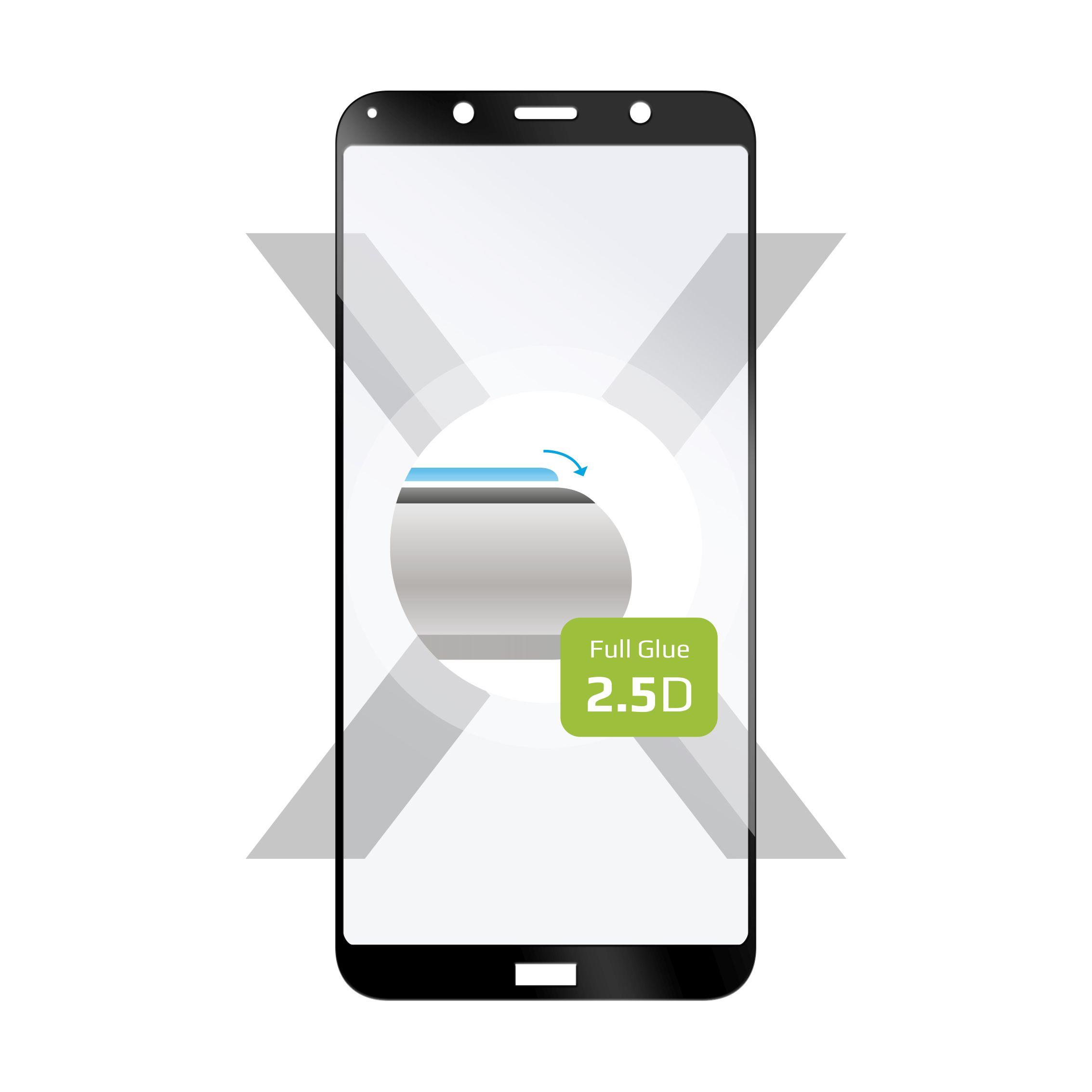 Ochranné tvrzené sklo FIXED Full-Cover pro Xiaomi Redmi 7A, lepení přes celý displej, černé