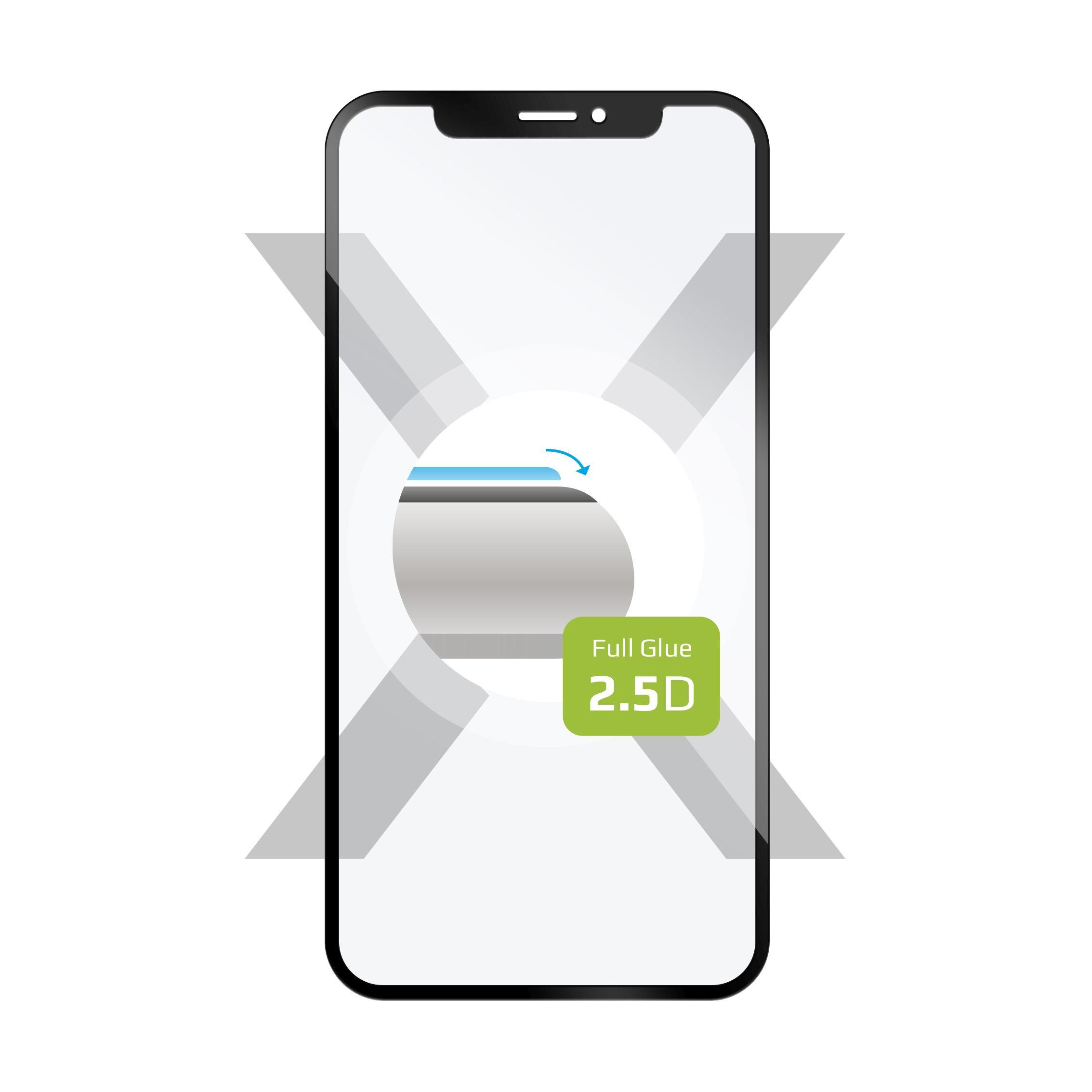 Ochranné tvrzené sklo FIXED Full-Cover pro Motorola Moto G7, lepení přes celý displej, černé