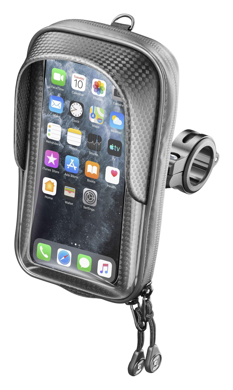 """Univerzální držák na mobilní telefony Interphone Master s úchytem na řídítka, pro telefony max. 5,8"""", černý"""