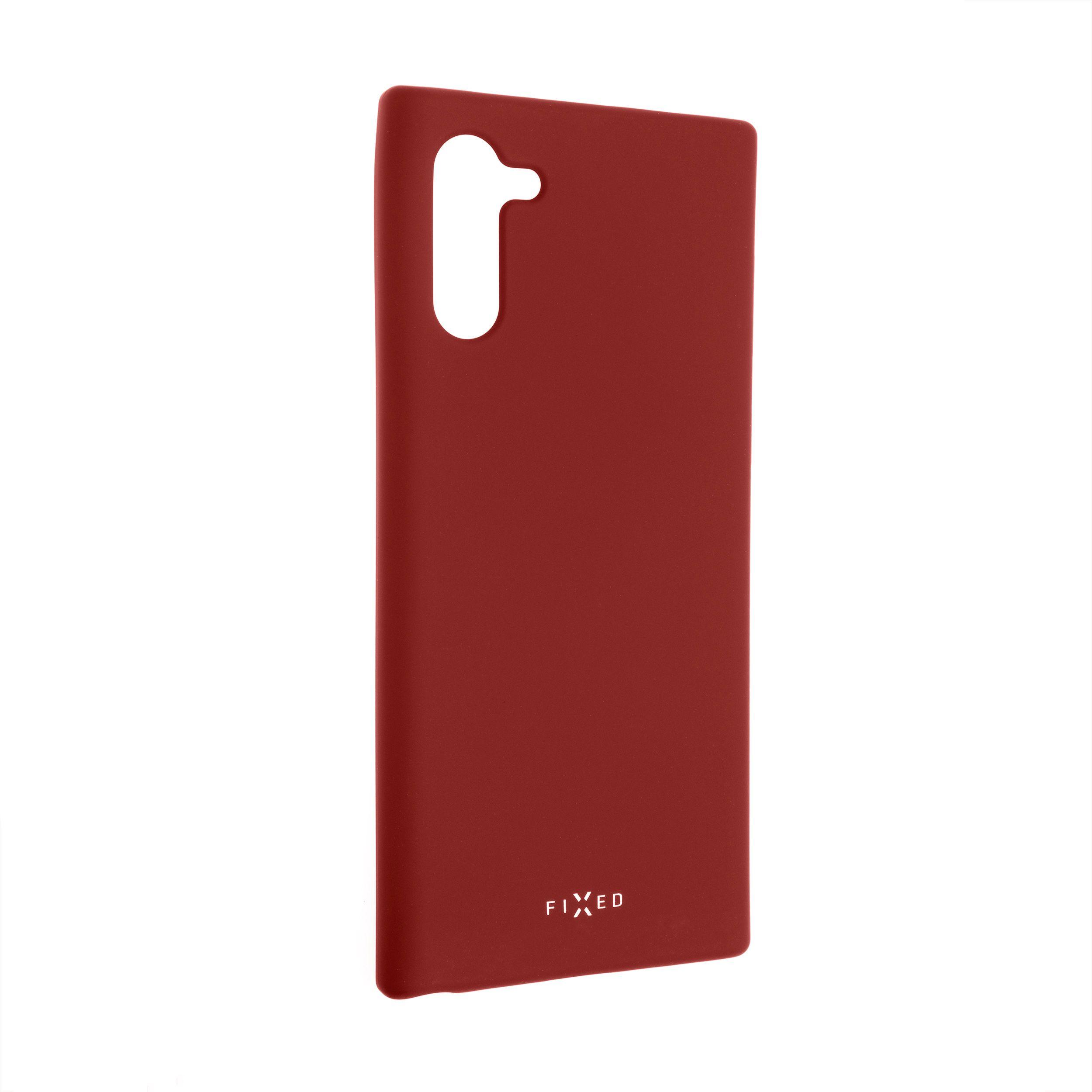 Zadní pogumovaný kryt FIXED Story pro Samsung Galaxy Note10, červený
