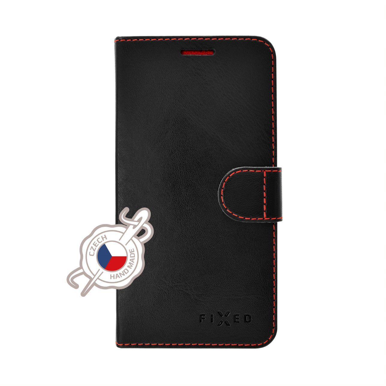 Pouzdro typu kniha FIXED FIT pro Samsung Galaxy Note10, černé