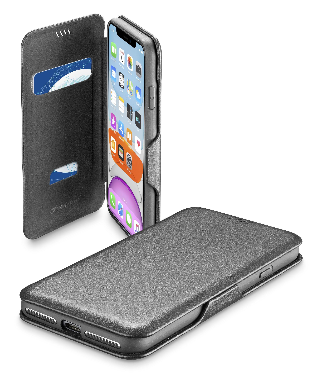Pouzdro typu kniha CellularLine Book Clutch pro Apple iPhone 11, černé