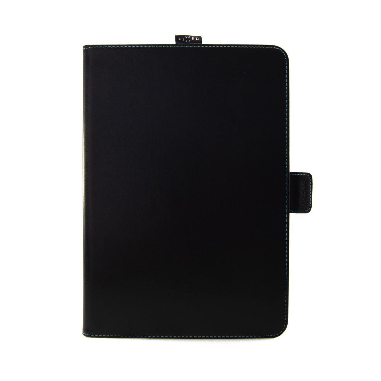 """Pouzdro pro 10,1"""" tablety FIXED Novel se stojánkem a kapsou pro stylus, PU kůže, černé"""