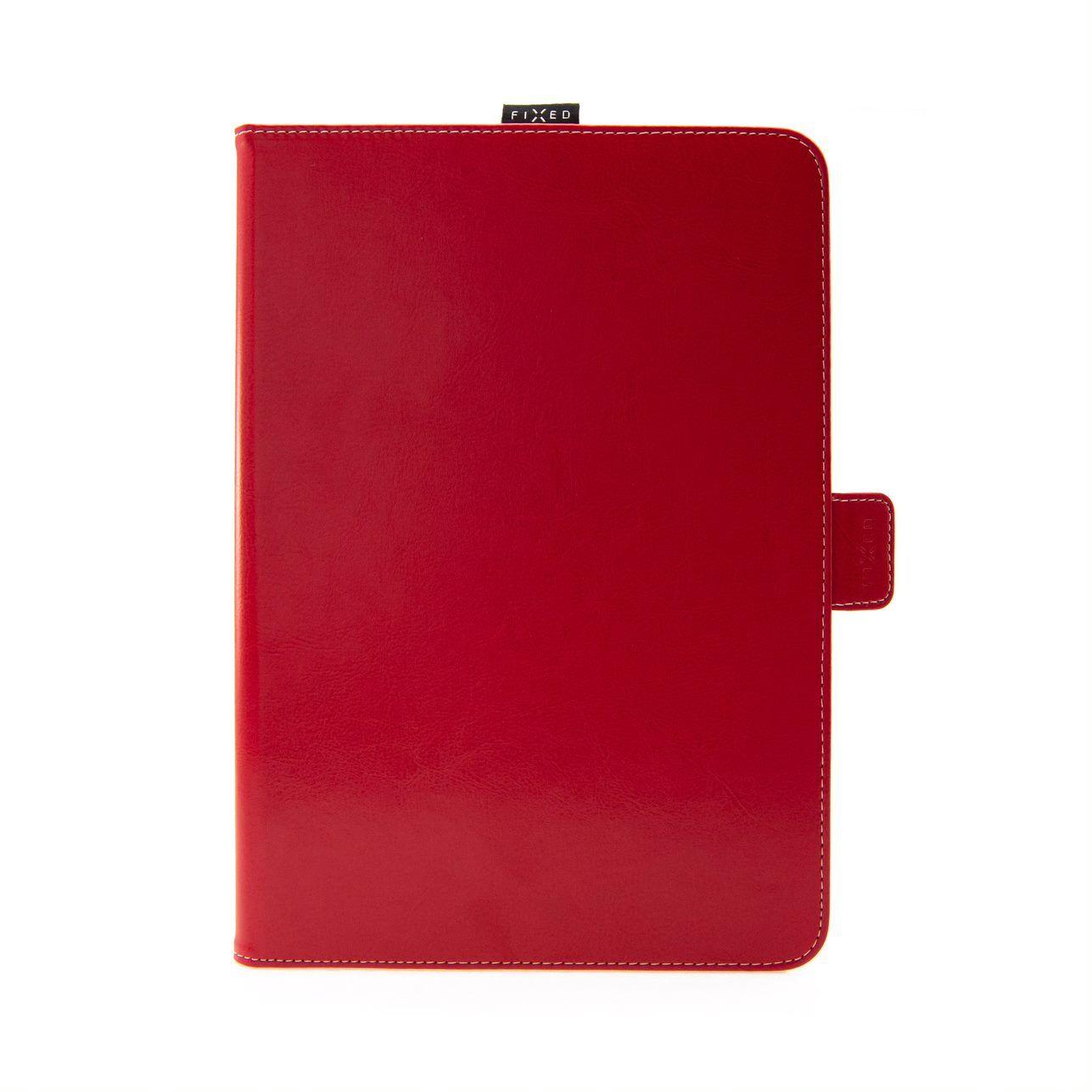"""Pouzdro pro 10,1"""" tablety FIXED Novel se stojánkem a kapsou pro stylus, PU kůže, červené"""