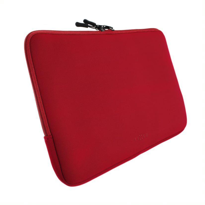 """Neoprenové pouzdro FIXED Sleeve pro notebooky o úhlopříčce do 15,6"""", červené"""