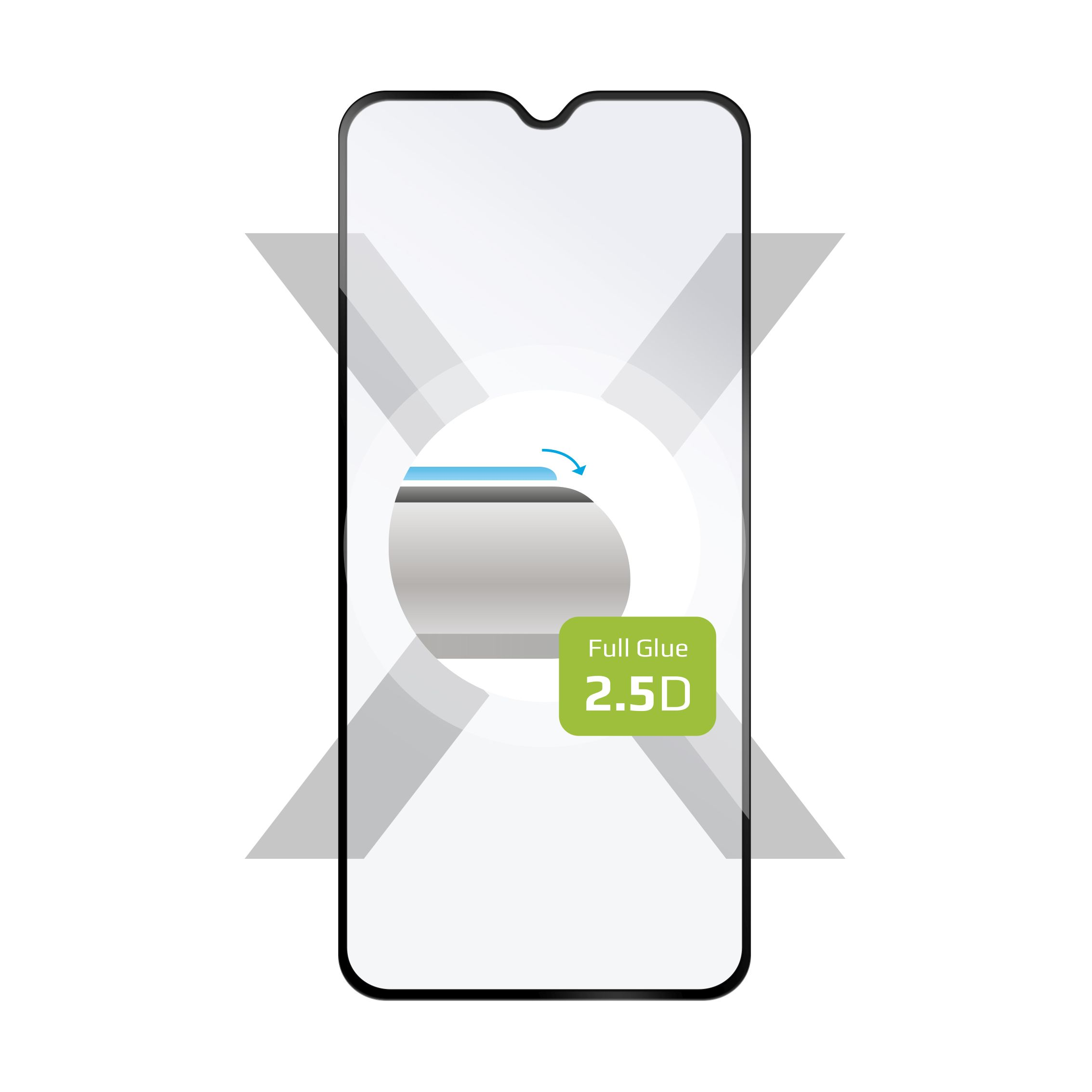Ochranné tvrzené sklo FIXED Full-Cover pro Xiaomi Redmi Note 8T, lepení přes celý displej, černé