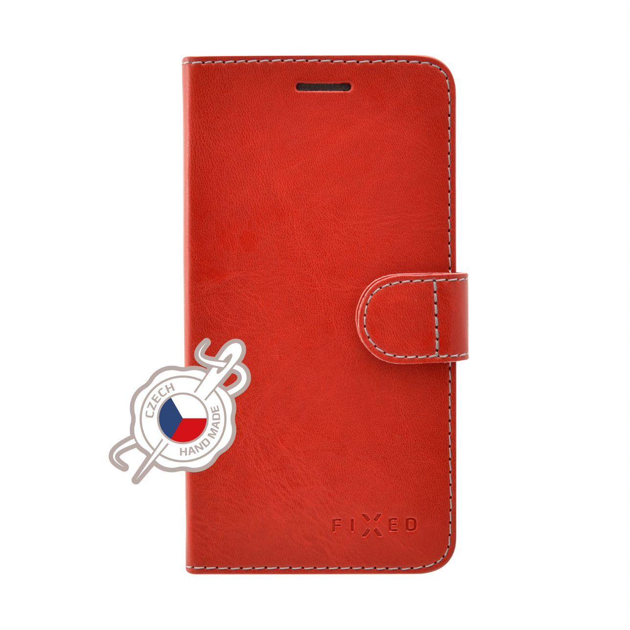 Pouzdro typu kniha FIXED FIT pro Xiaomi Redmi Note 8T, červené