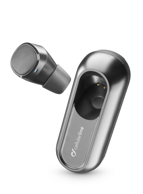 Bluetooth headset Cellularline Power Mini s nabíjecím pouzdrem, černý