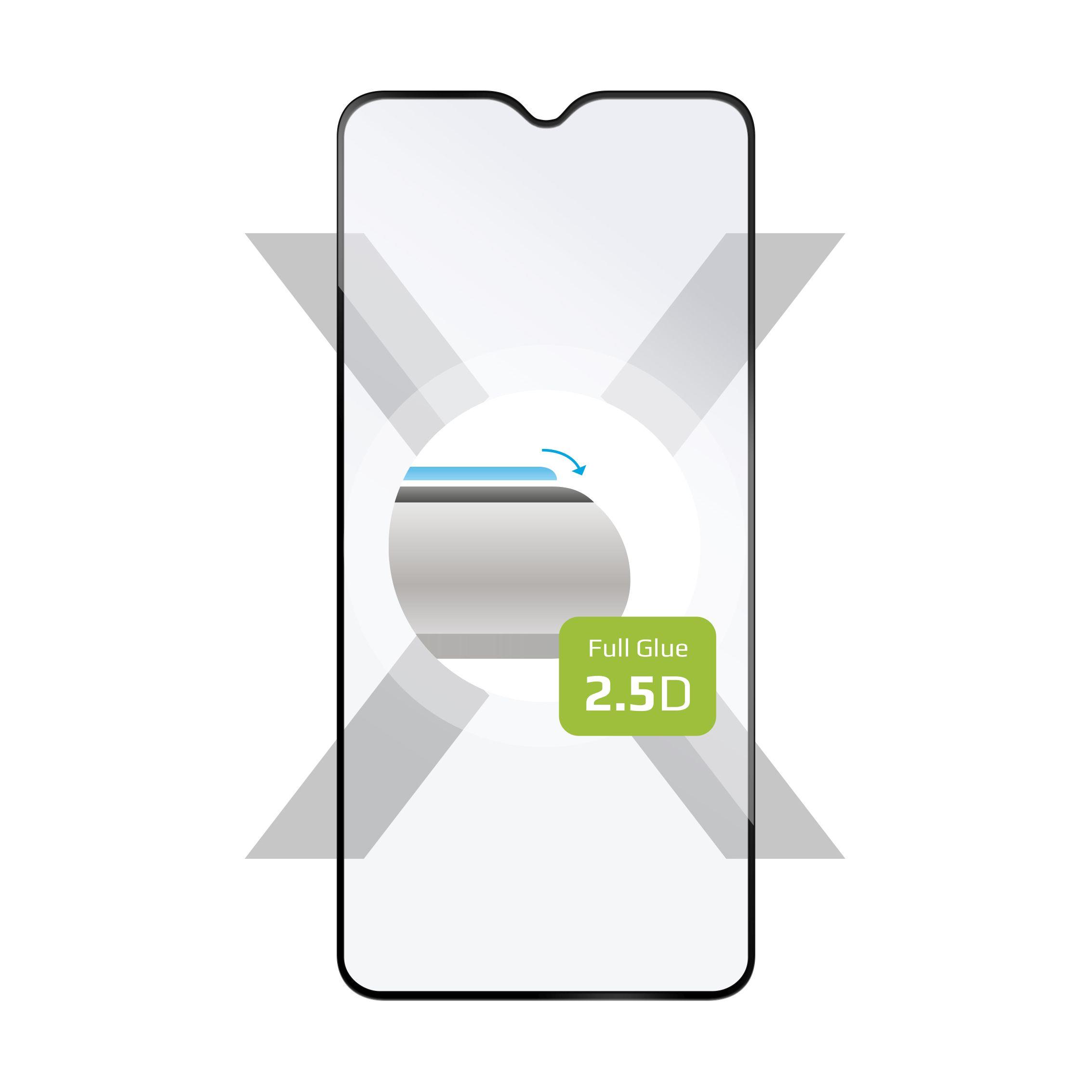 Ochranné tvrzené sklo FIXED Full-Cover pro Xiaomi Redmi Note 8, lepení přes celý displej, černé