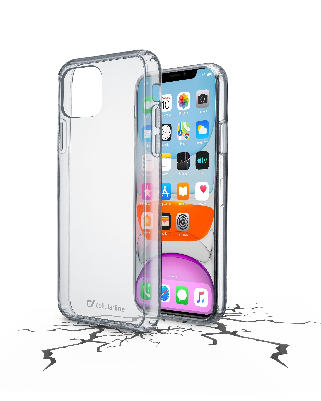 Zadní čirý kryt s ochranným rámečkem Cellularline Clear Duo pro Apple iPhone 11