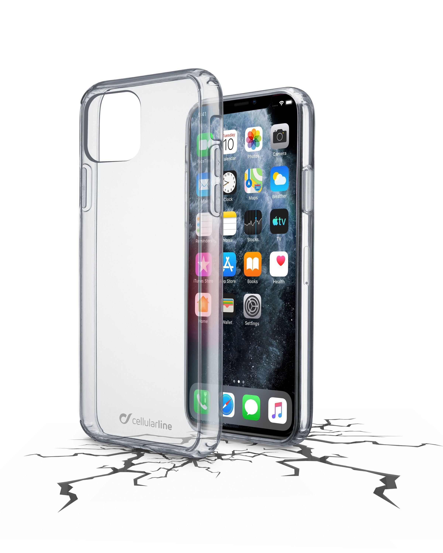 Zadní čirý kryt s ochranným rámečkem Cellularline Clear Duo pro Apple iPhone 11 Pro