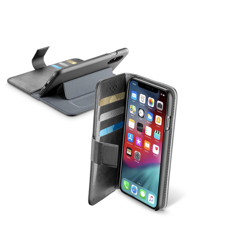 Pouzdro typu kniha CellularLine Book Agenda pro Apple iPhone XS Max, černé