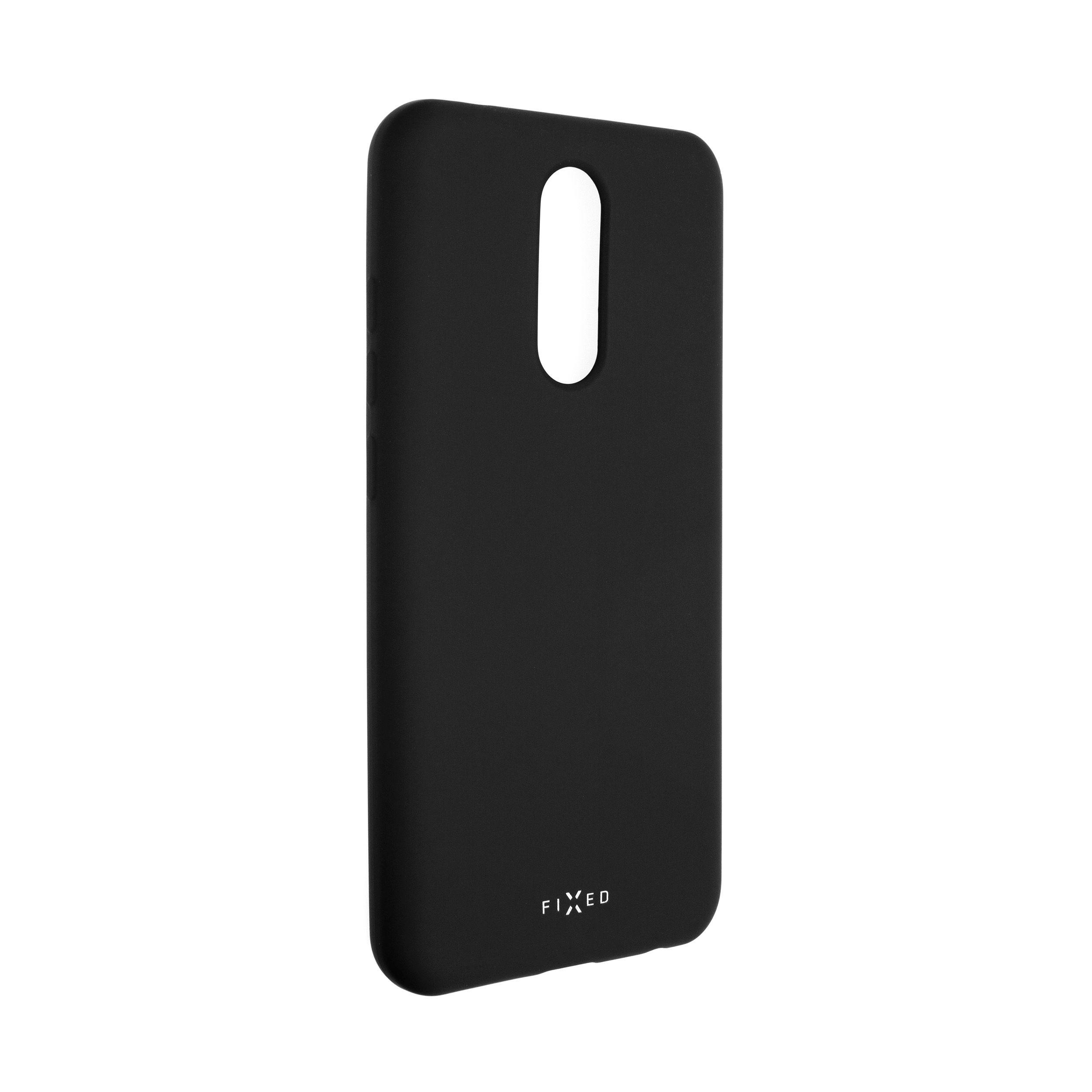 Zadní pogumovaný kryt FIXED Story pro Xiaomi Redmi 8/8A, černý