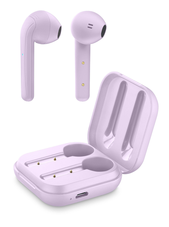 True wireless sluchátka Cellularline Java s dobíjecím pouzdrem, růžová