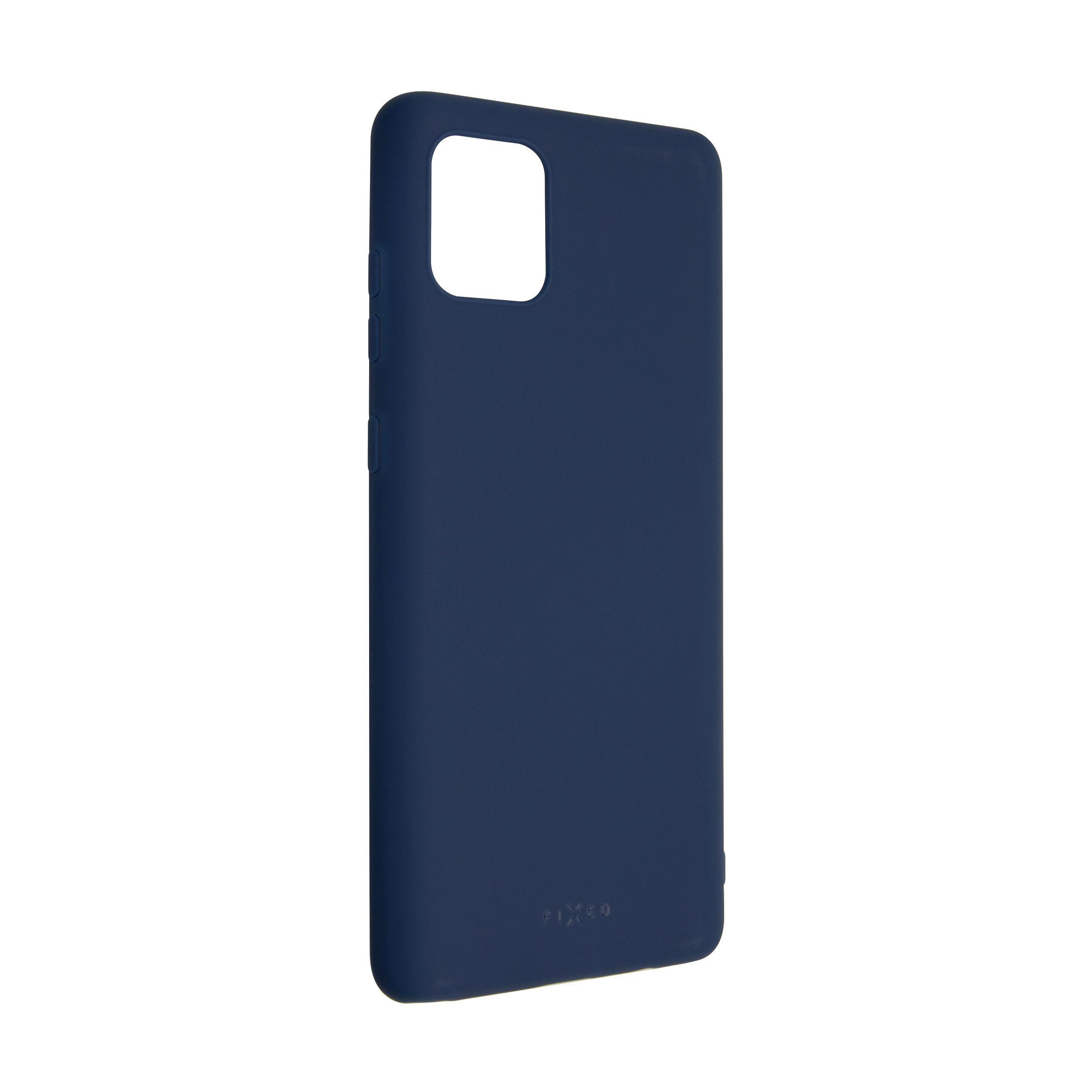 Zadní pogumovaný kryt FIXED Story pro Samsung Galaxy Note 10 Lite, modrý