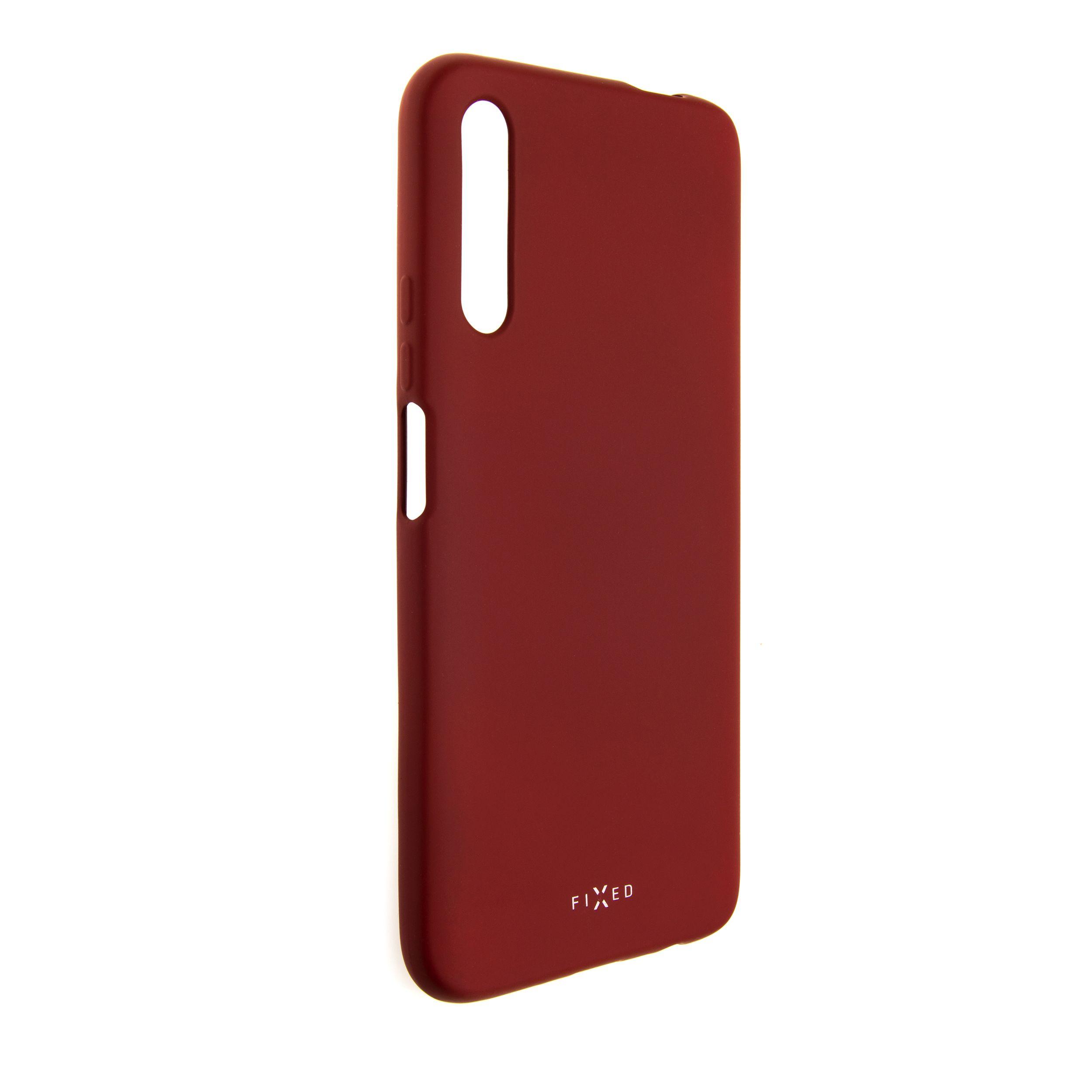 Zadní pogumovaný kryt FIXED Story pro Huawei P Smart Pro (2019), červený