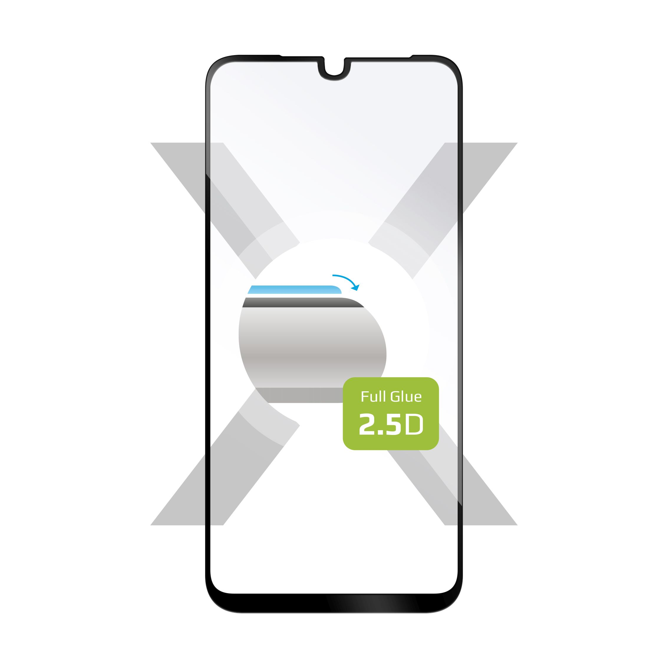 Ochranné tvrzené sklo FIXED Full-Cover pro Motorola One Macro, lepení přes celý displej, černé