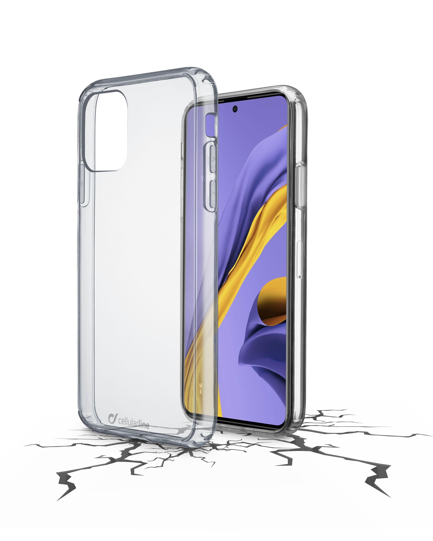 Zadní čirý kryt s ochranným rámečkem Cellularline Clear Duo pro Samsung Galaxy  A51