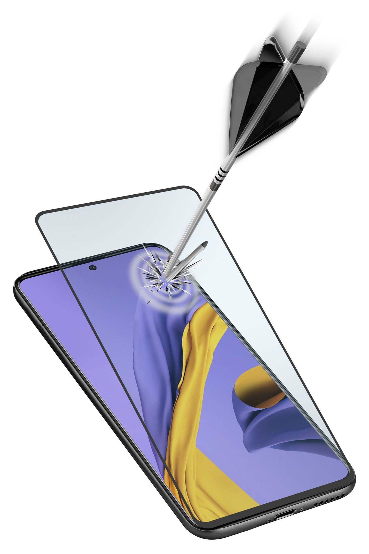 Ochranné tvrzené sklo pro celý displej Cellularline Capsule pro Samsung Galaxy A51, černé