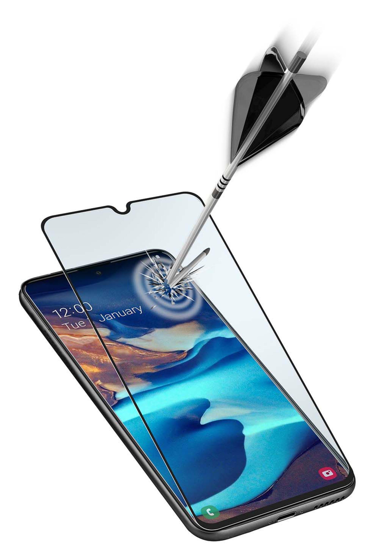 Ochranné tvrzené sklo pro celý displej Cellularline Capsule pro Samsung Galaxy A91, černé