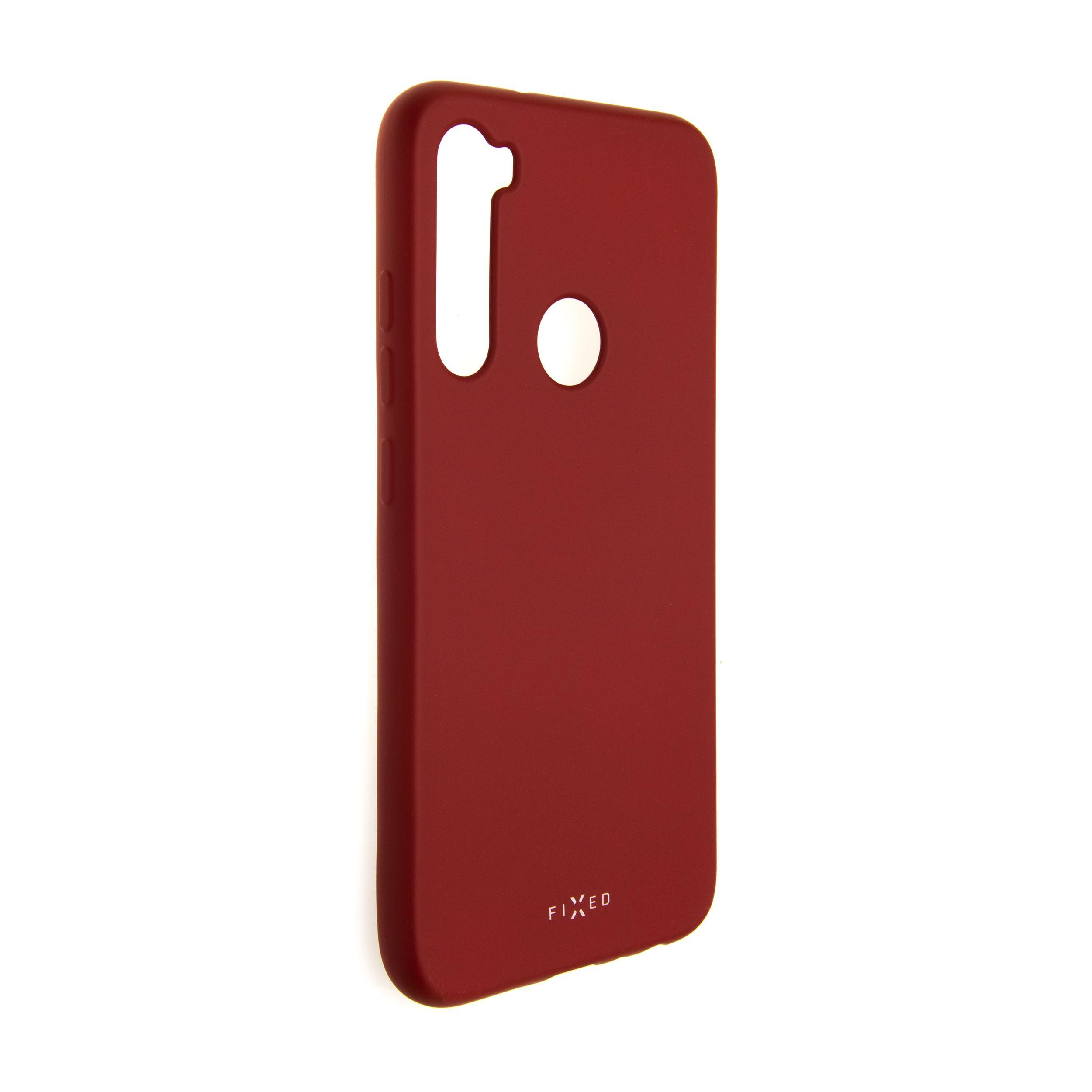 Zadní pogumovaný kryt FIXED Story pro Xiaomi Redmi Note 8, červený