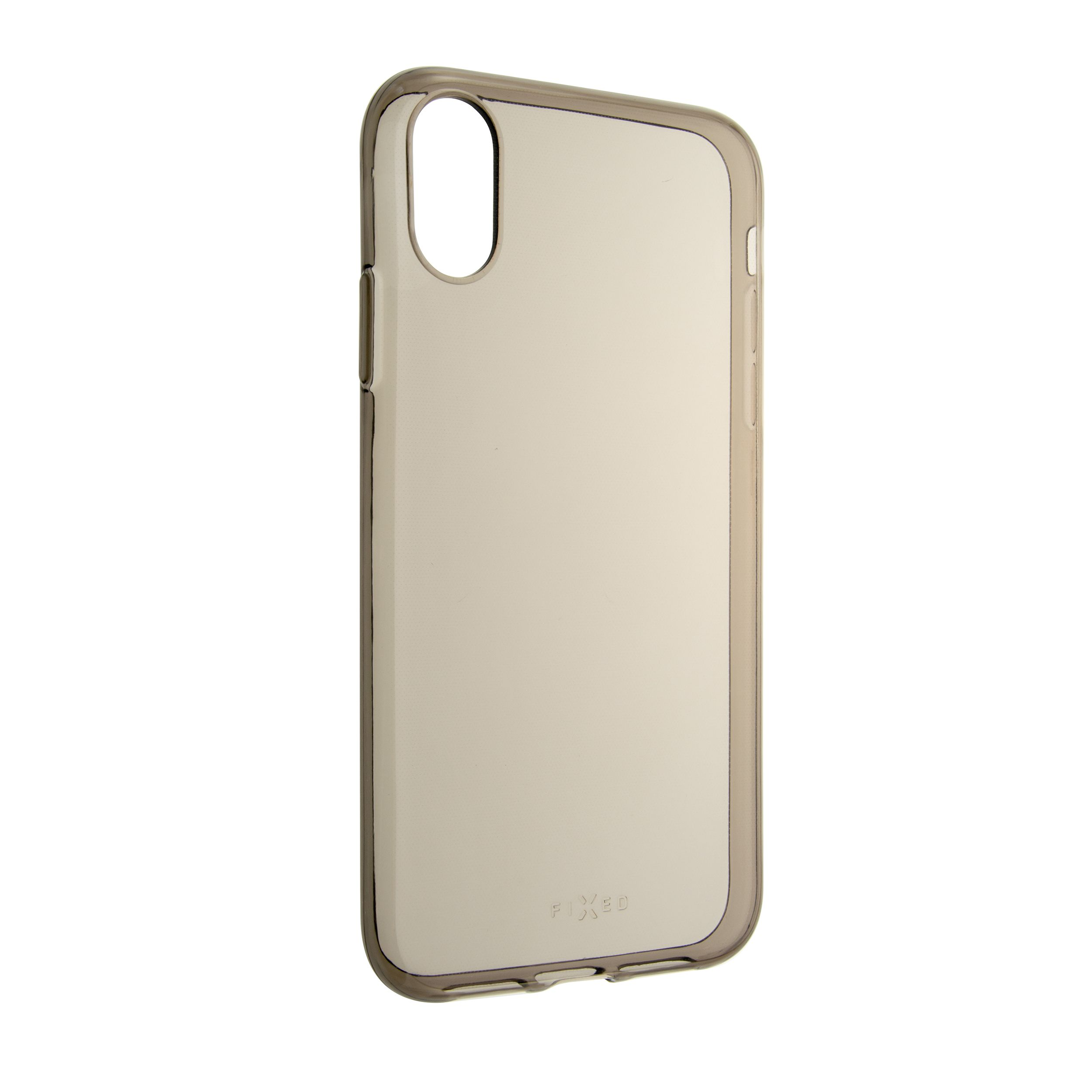 TPU gelové pouzdro FIXED Slim pro Apple iPhone XR, 0,6 mm, kouřové
