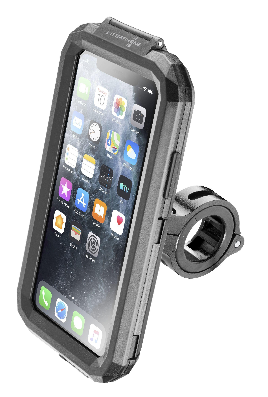 Voděodolné pouzdro Interphone pro Apple iPhone 11 Pro, úchyt na řídítka, černé