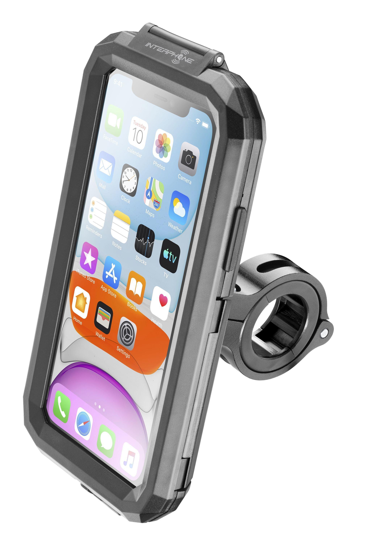 Voděodolné pouzdro Interphone pro Apple iPhone 11, úchyt na řídítka, černé