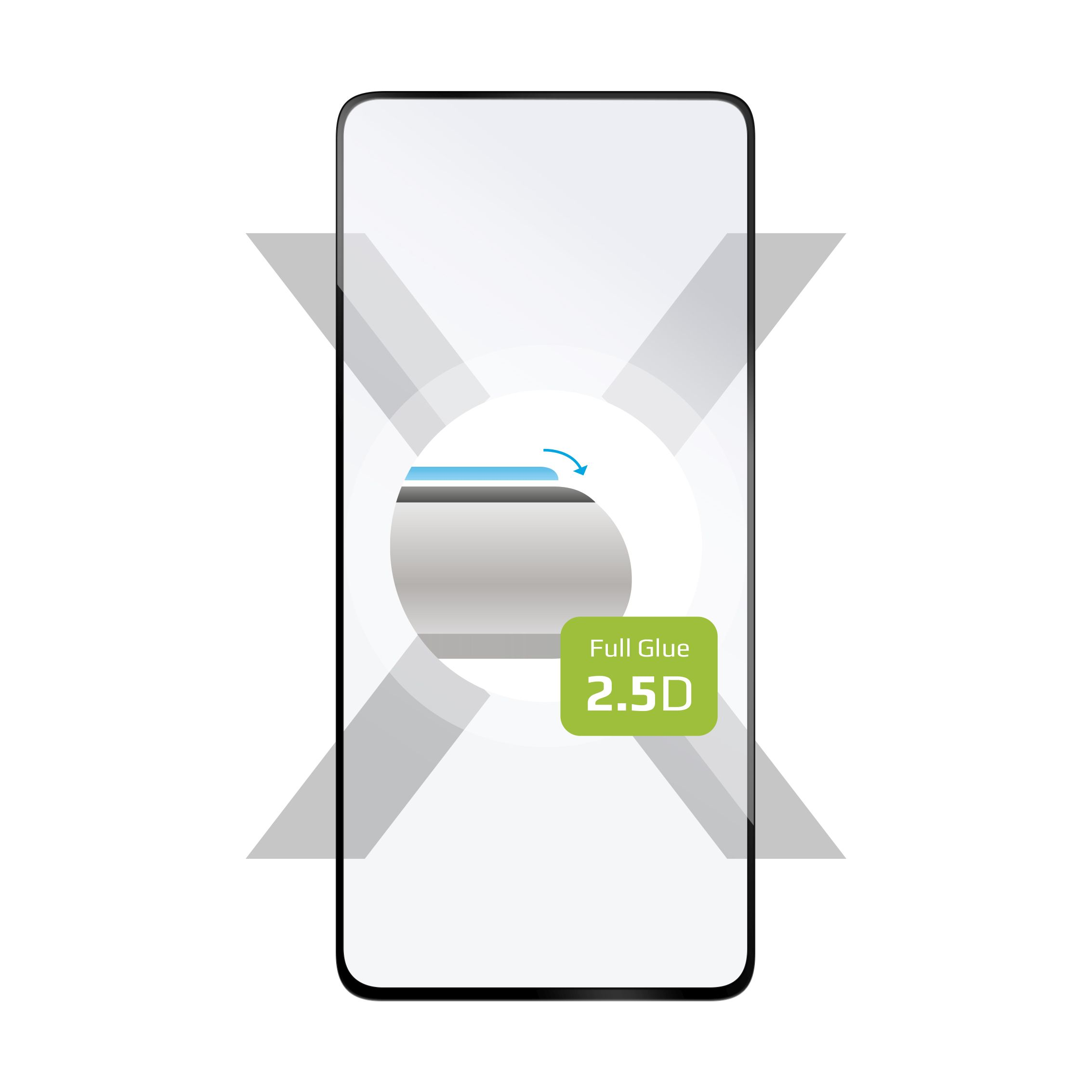 Ochranné tvrzené sklo FIXED Full-Cover pro Huawei P40, lepení přes celý displej, černé